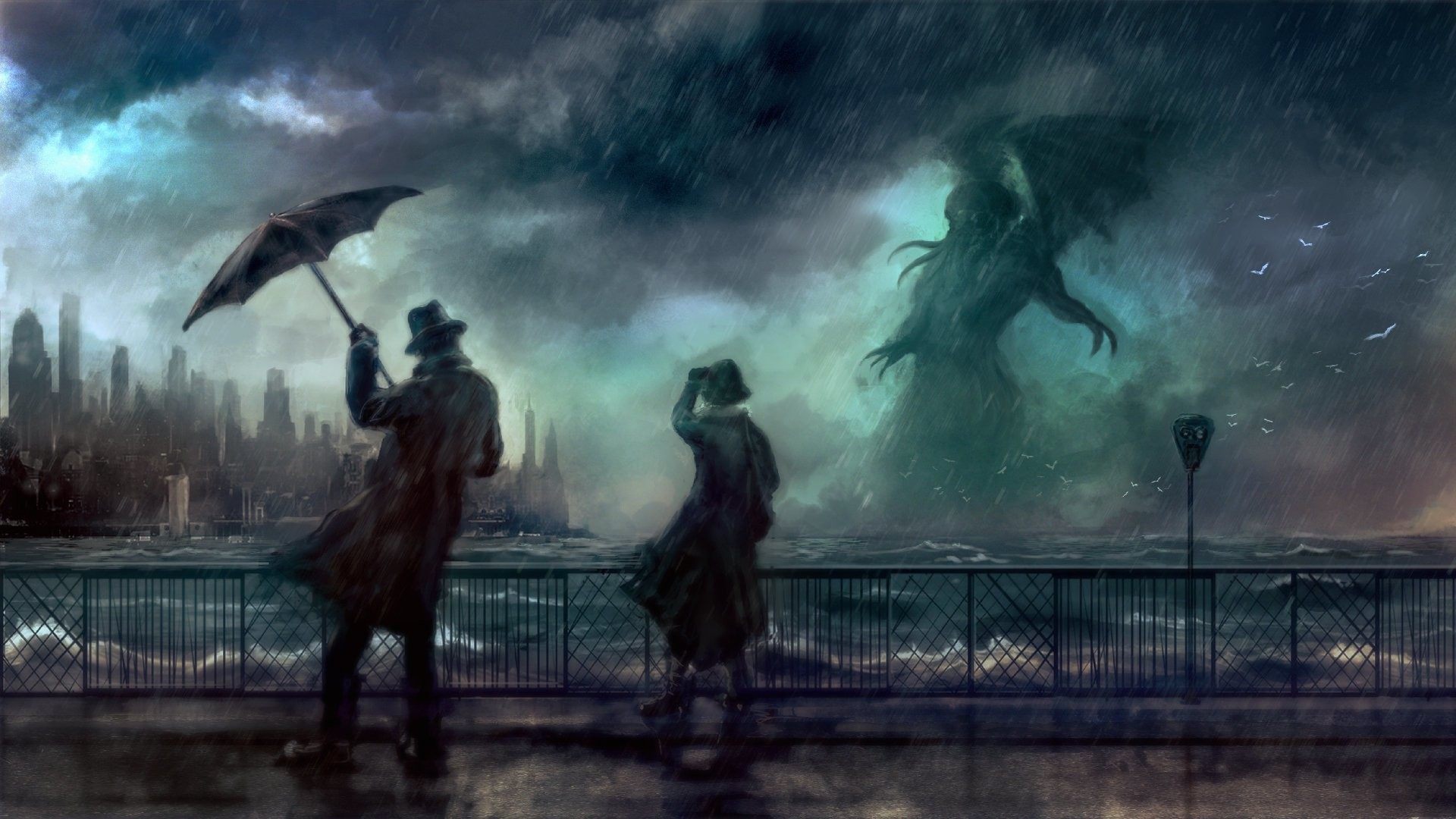 Res: 1920x1080, HD Wallpaper | Background Image ID:601112.  Fantasy Cthulhu
