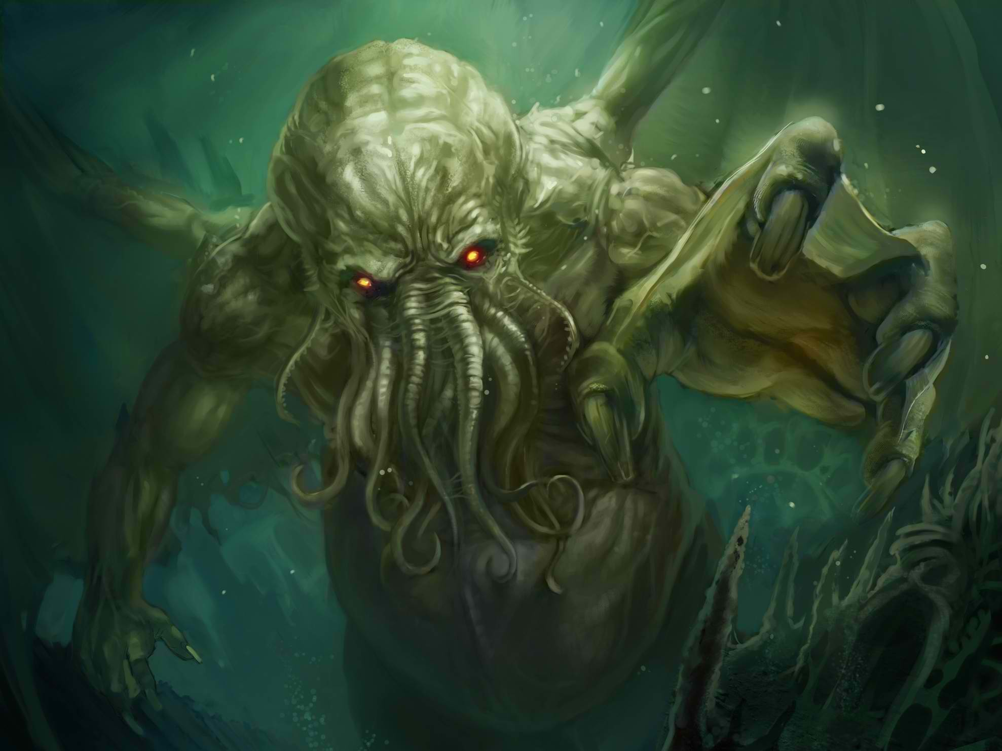 Res: 1977x1483, HD Wallpaper | Background Image ID:342958.  Fantasy Cthulhu