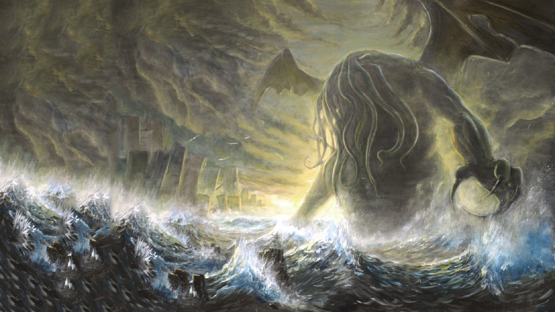 Res: 1920x1080, HD Cthulhu Wallpapers and Photos,  px – By Marcie Weir for mobile  and desktop