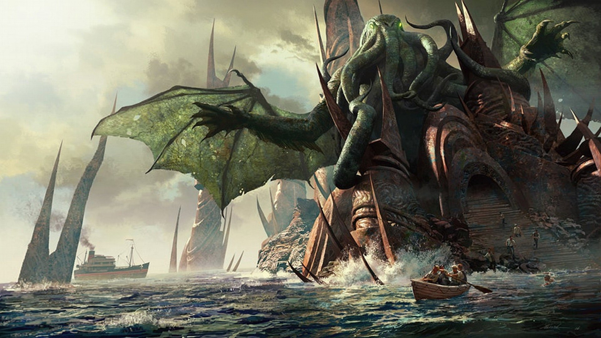 Res: 1920x1080, Cthulhu-Wallpaper-Images.jpg