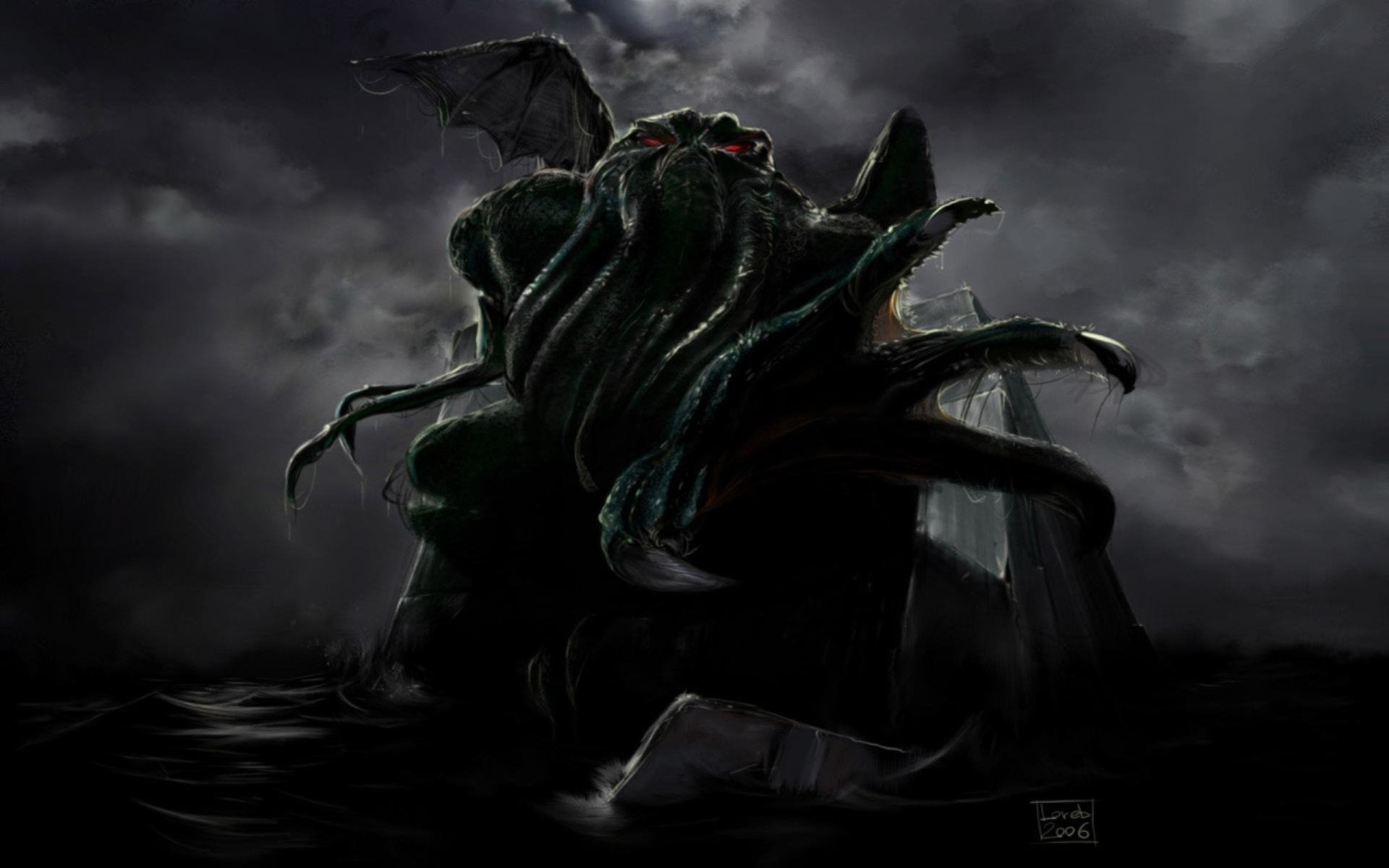 Res: 1920x1200, Cthulhu Wallpapers 25 - 1920 X 1200