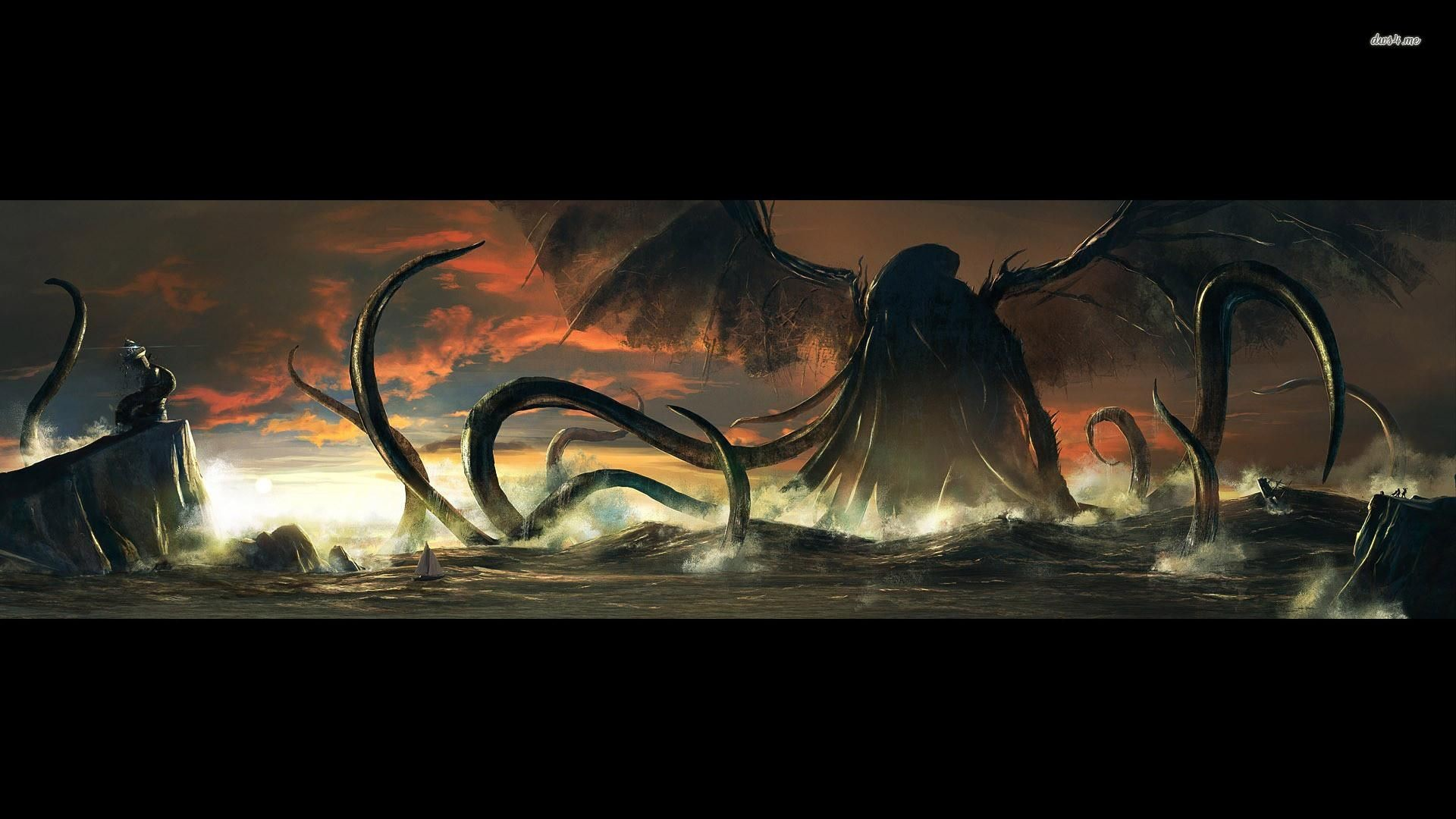 Res: 1920x1080, Cthulhu: Reality Cthulhu Wallpapers for PC & Mac, Laptop, Tablet, Mobile  Phone