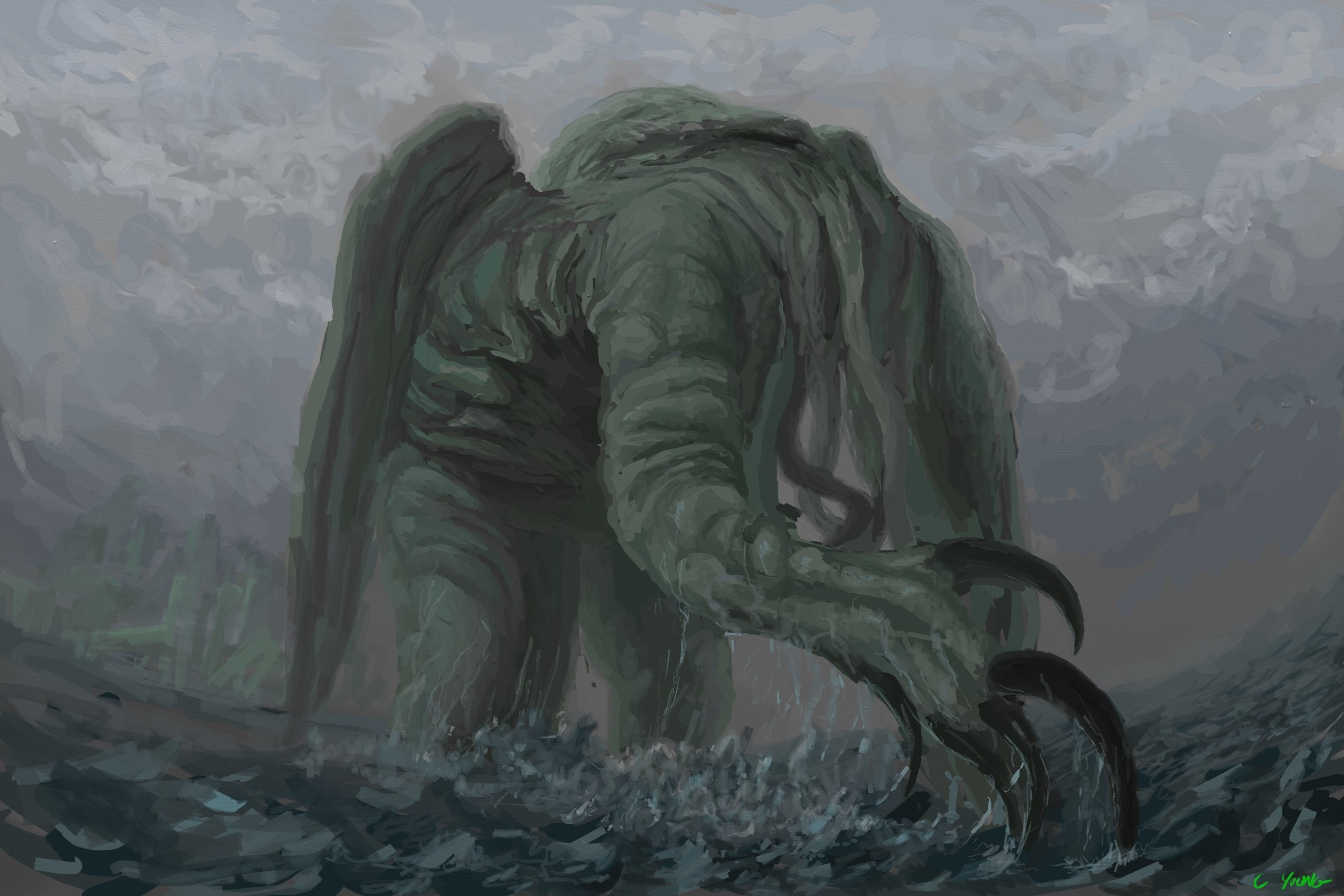 Res: 2592x1728,  px cthulhu wallpaper desktop by Tina WilKinson