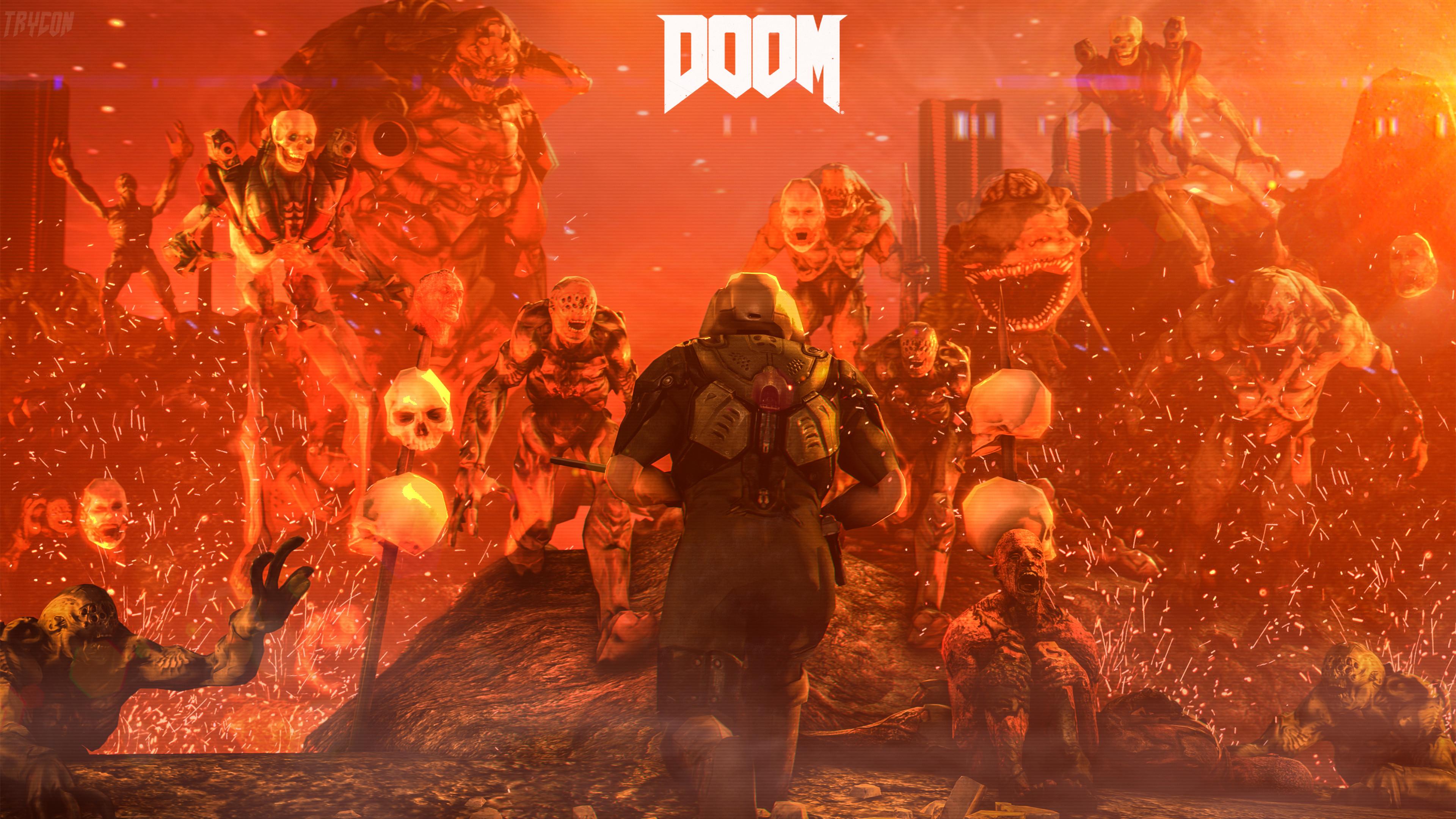 Res: 3840x2160, Doom 4 Digital Art