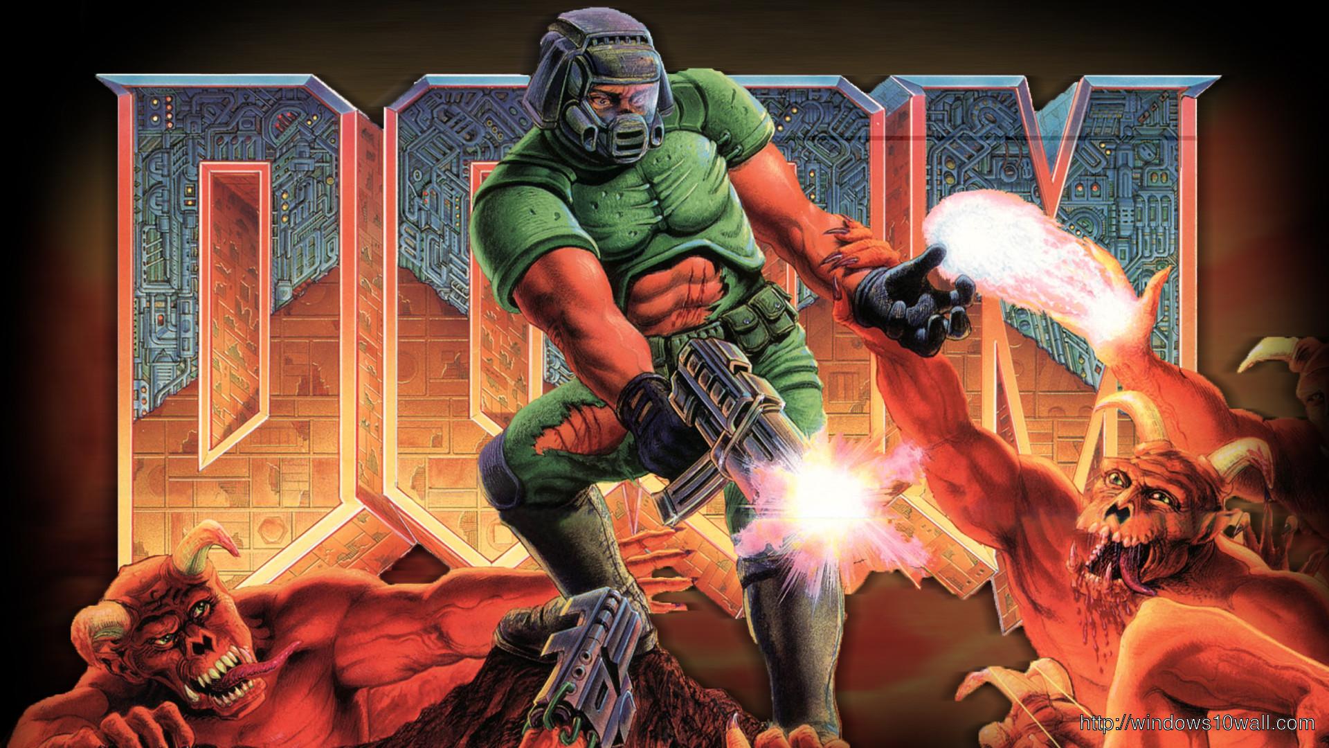 Res: 1920x1080, Doom Monsters Game Wallpaper