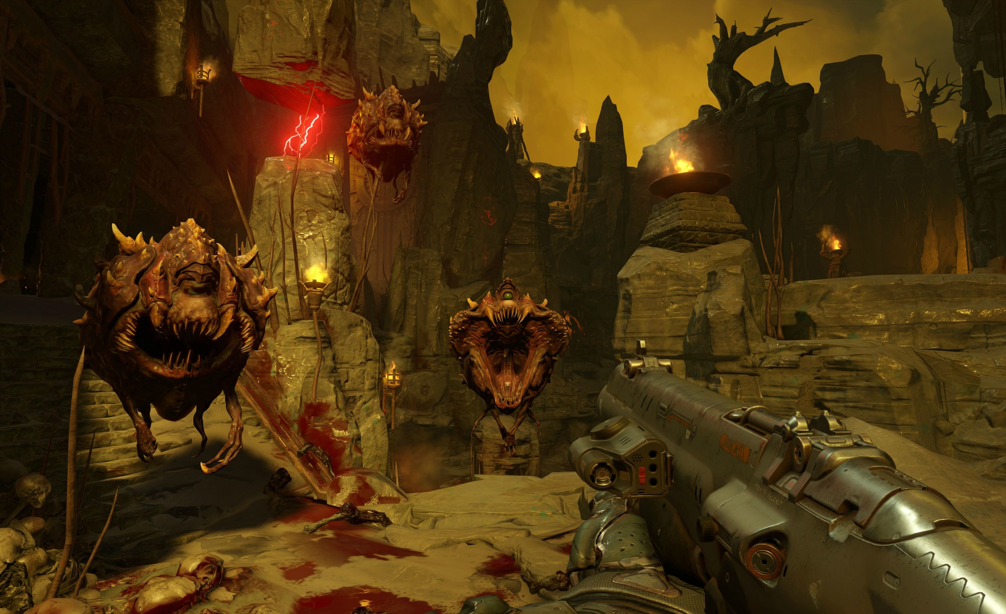 Res: 3456x2109, Doom 4 Video Game Wallpaper