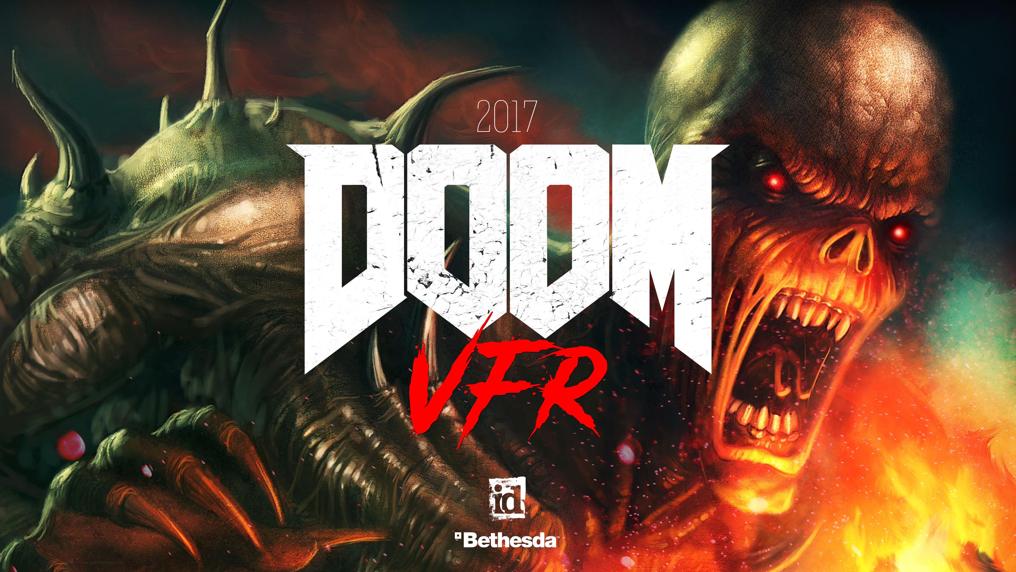 Res: 3840x2160, Doom VFR E3 2017 4K