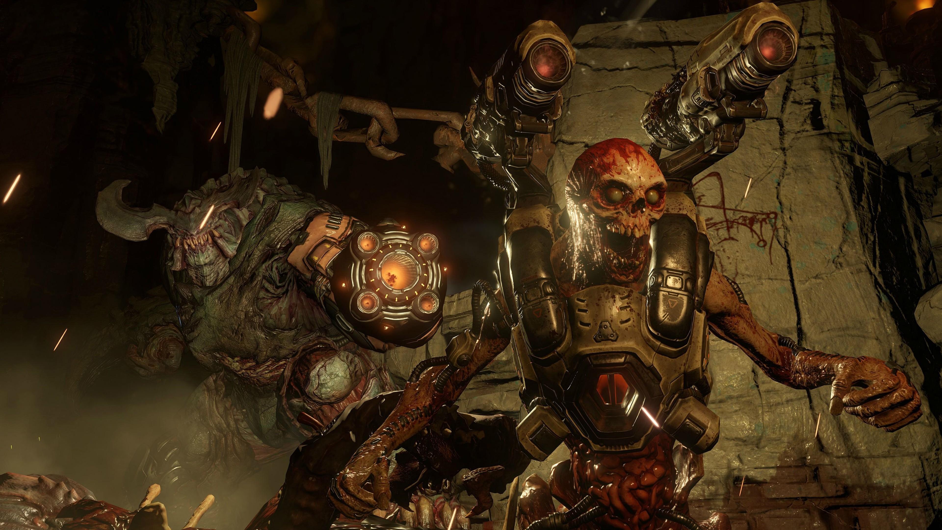 Res: 3840x2160, Doom Game 4k