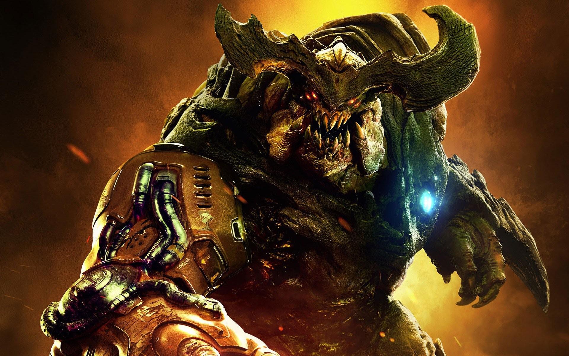 Res: 1920x1200, Doom 2016 Monster
