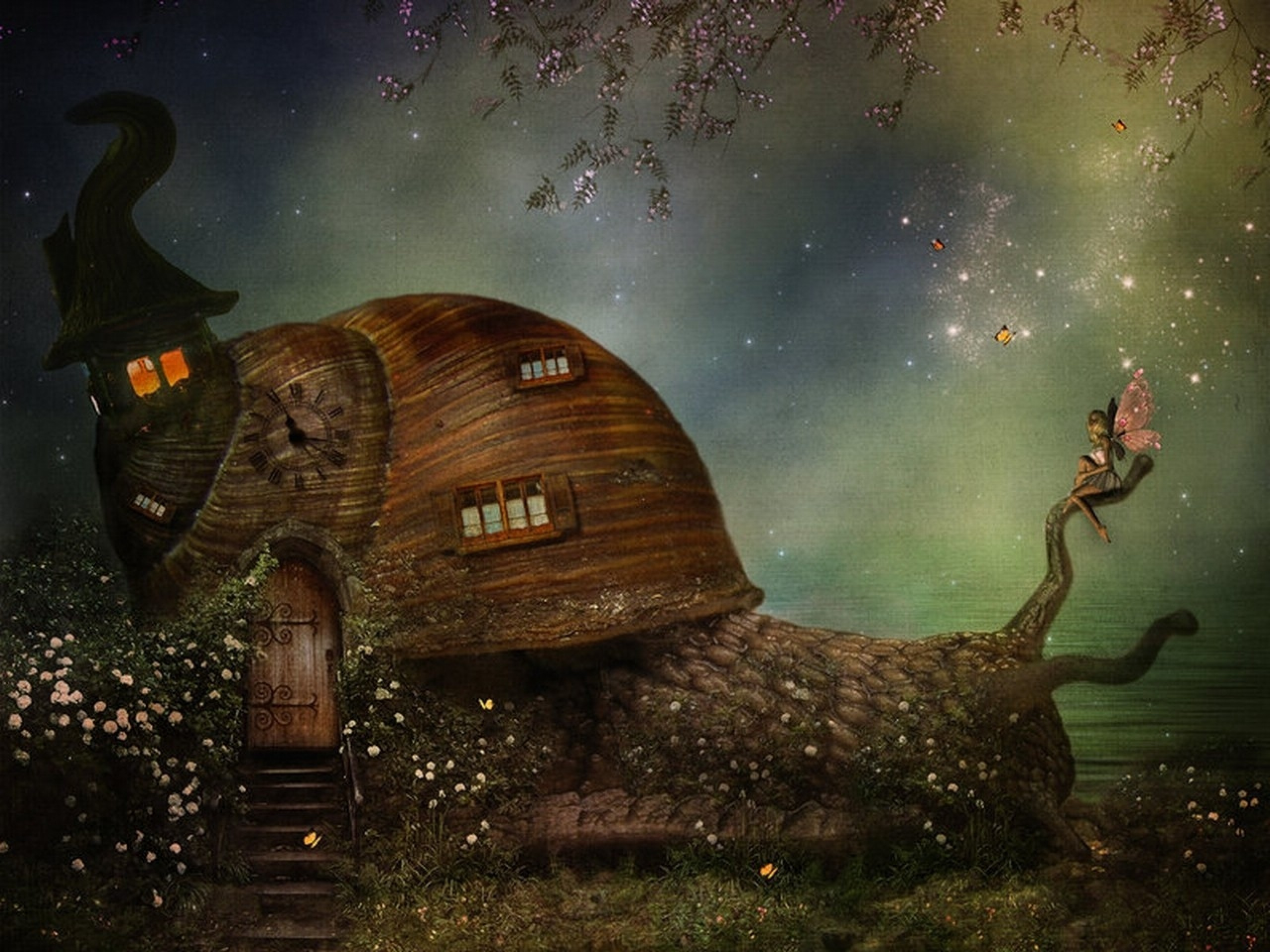 Res: 2560x1920, Image: Snail House & Fairy wallpapers and stock photos. Â«