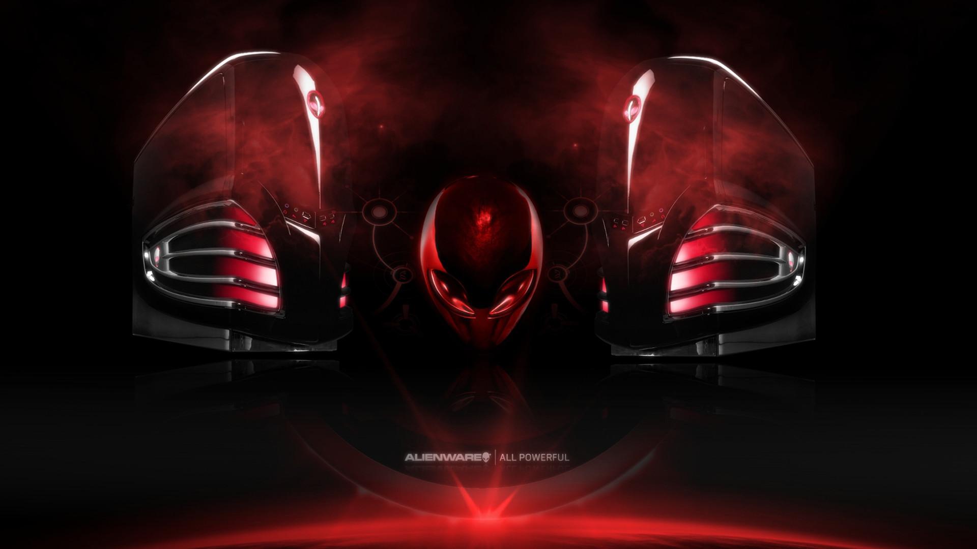 Res: 1920x1080, alienware dark red logo hd
