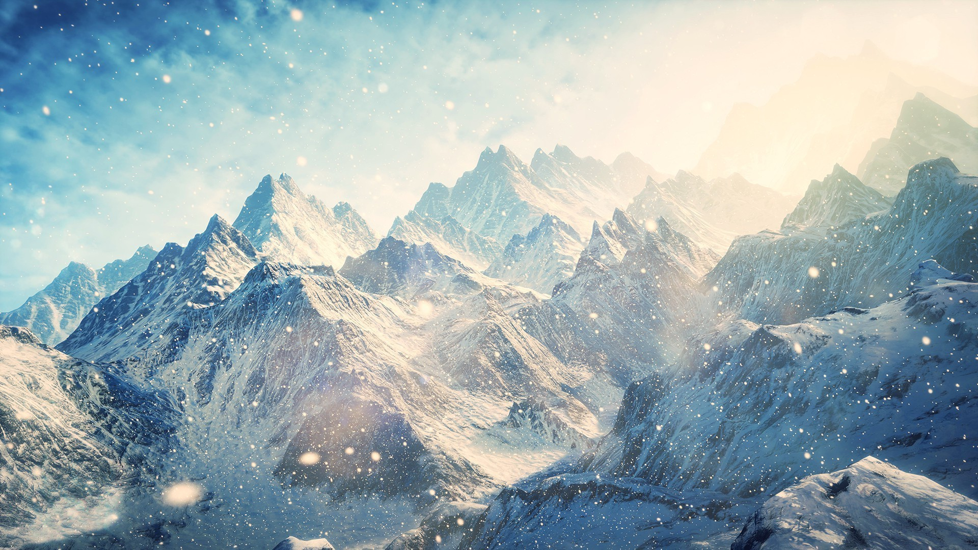 Res: 1920x1080, Snow Mountains