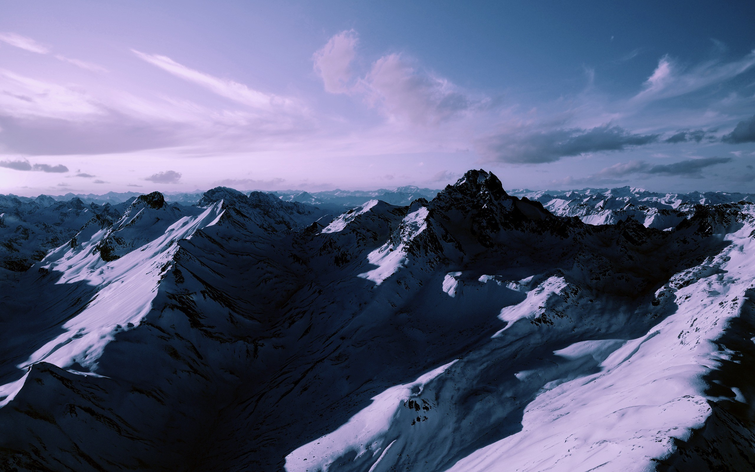 Res: 2560x1600, Snowy Mountains Wallpaper