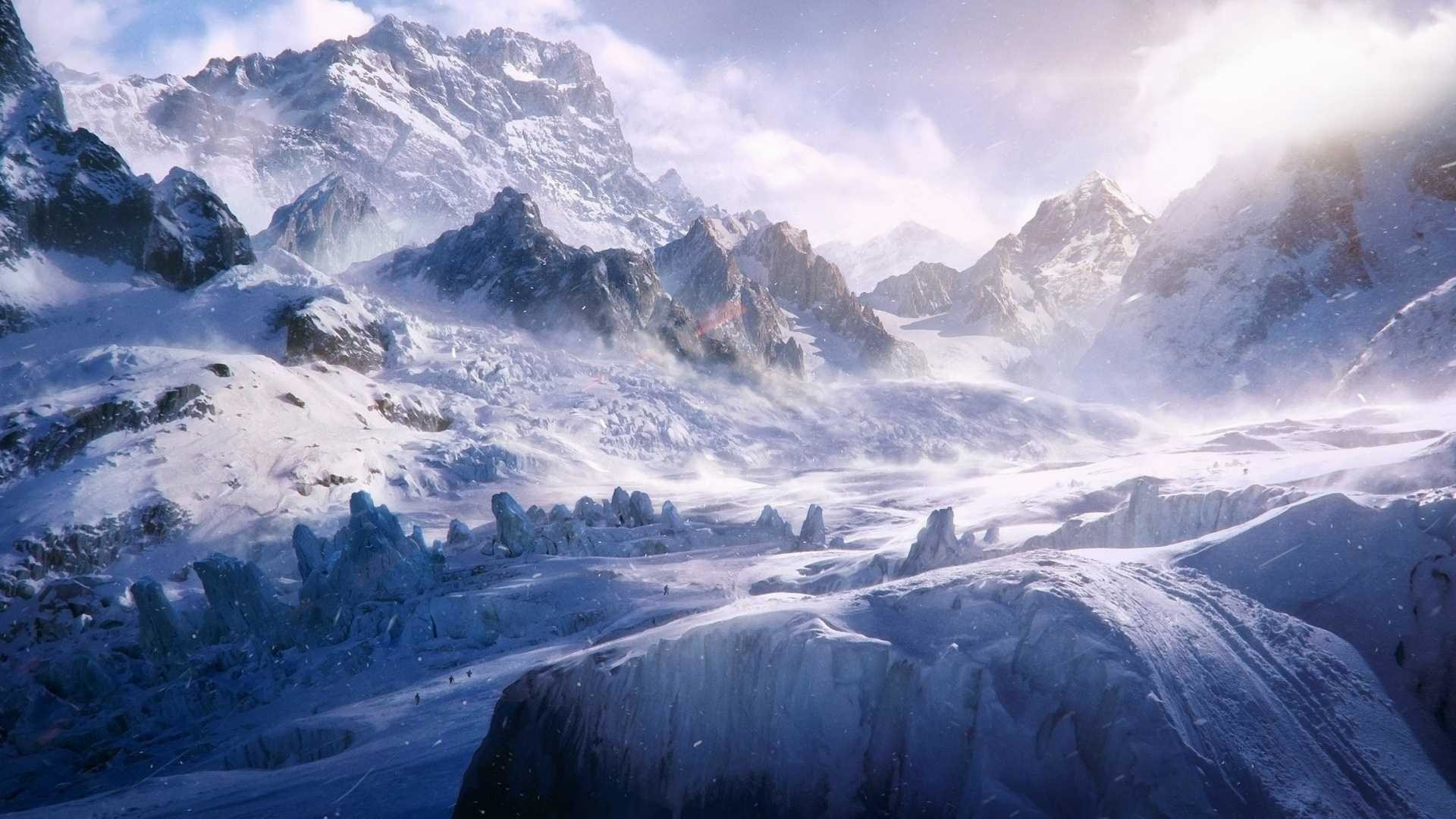Res: 1920x1080, snowy mountain wallpaper