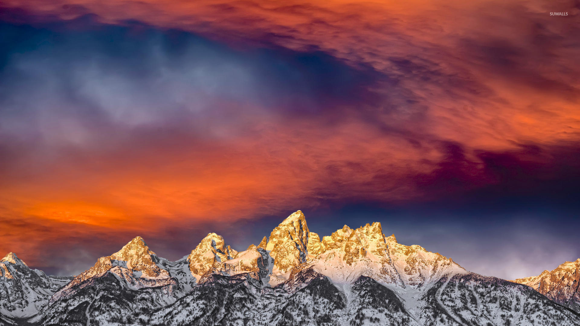 Res: 1920x1080, Snowy Mountain Sunset Wallpapers Full Hd