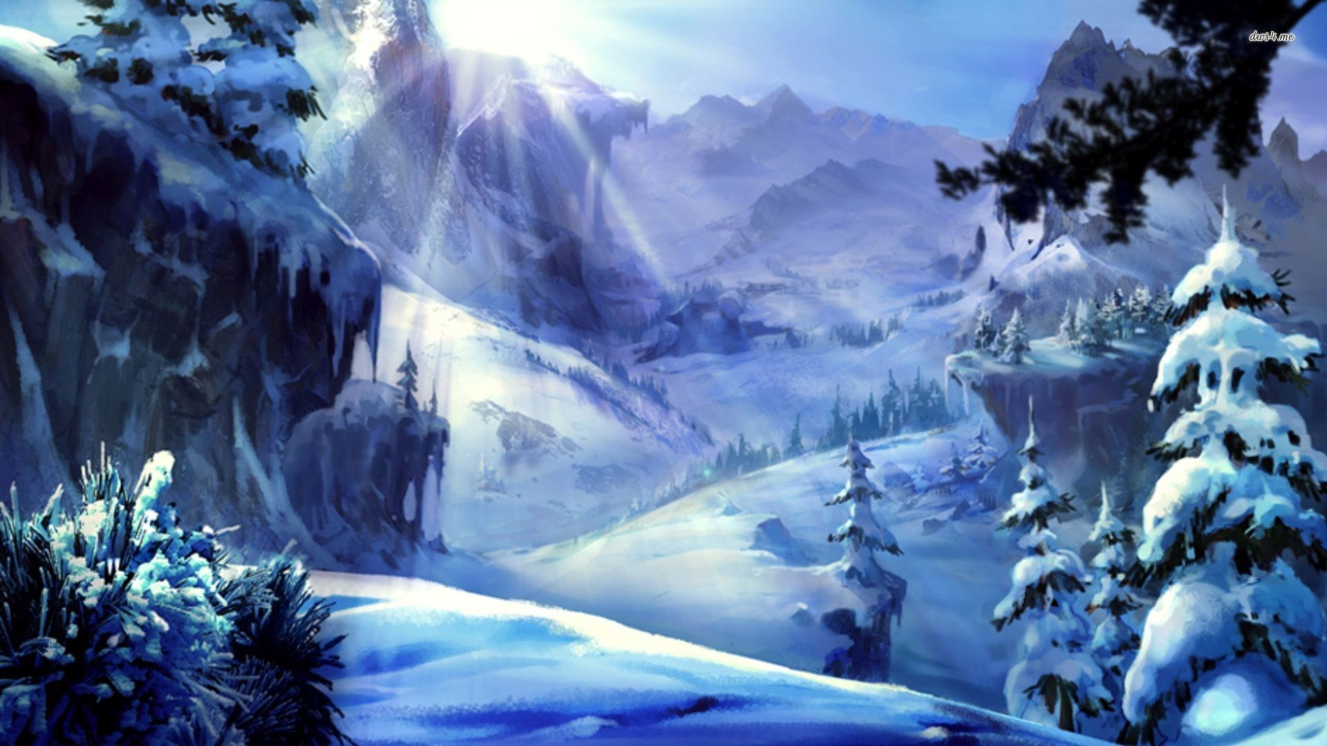 Res: 1920x1080, ... Snowy Mountains wallpaper  ...