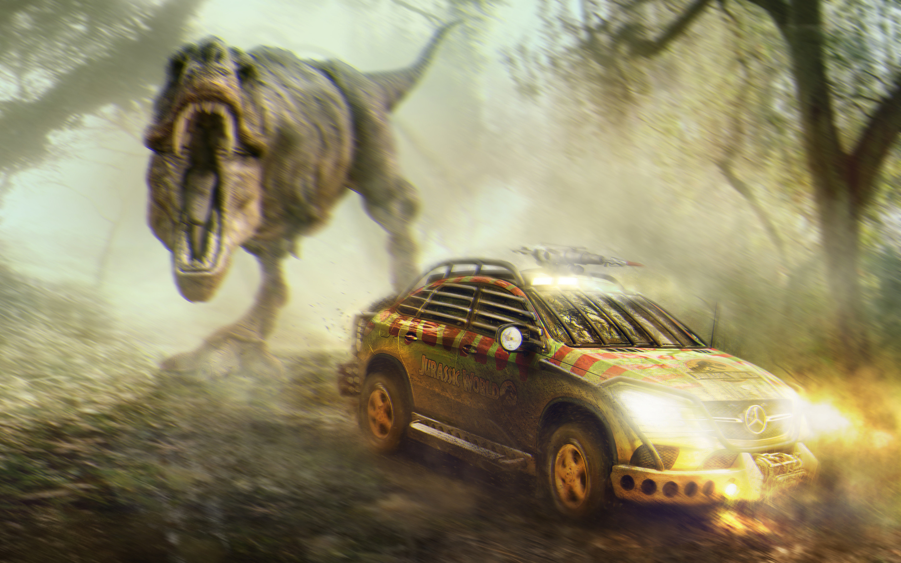 Res: 2880x1800, Jurassic World Mercedes Benz GLE Coupe