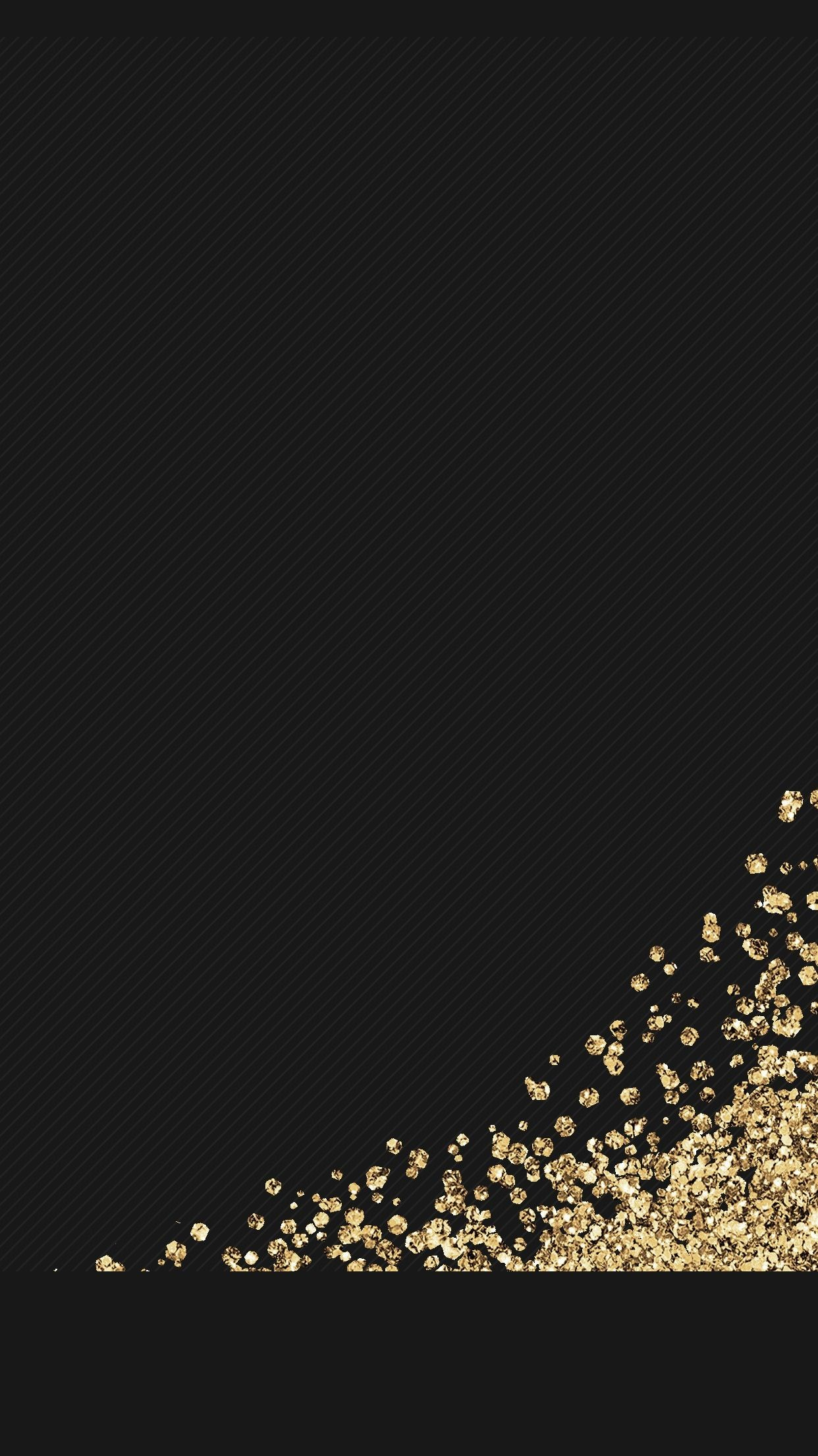 Res: 1242x2208, black, gold, glitter, wallpaper, background, iphone, android, HD