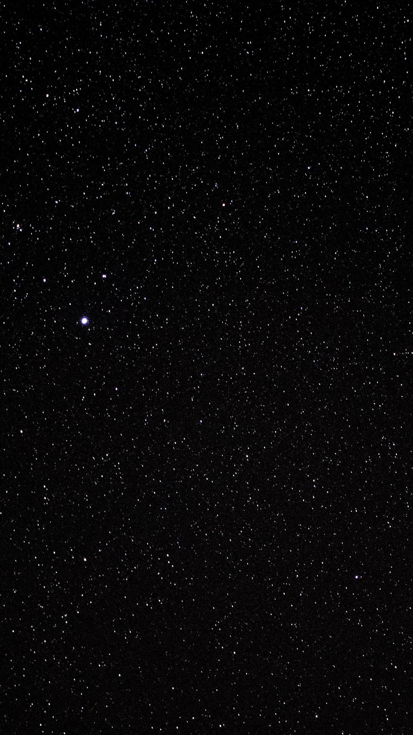 Res: 1440x2560,  Wallpaper starry sky, stars, black, glitter