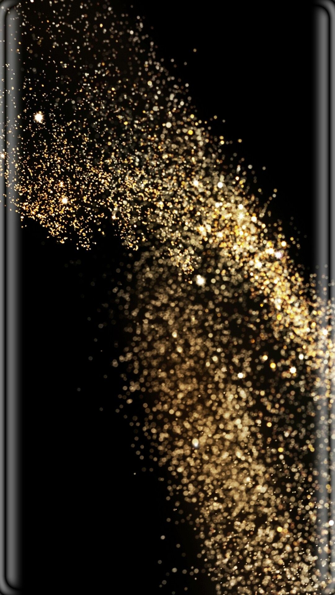 Res: 1080x1920, Black with Gold Dust Wallpaper