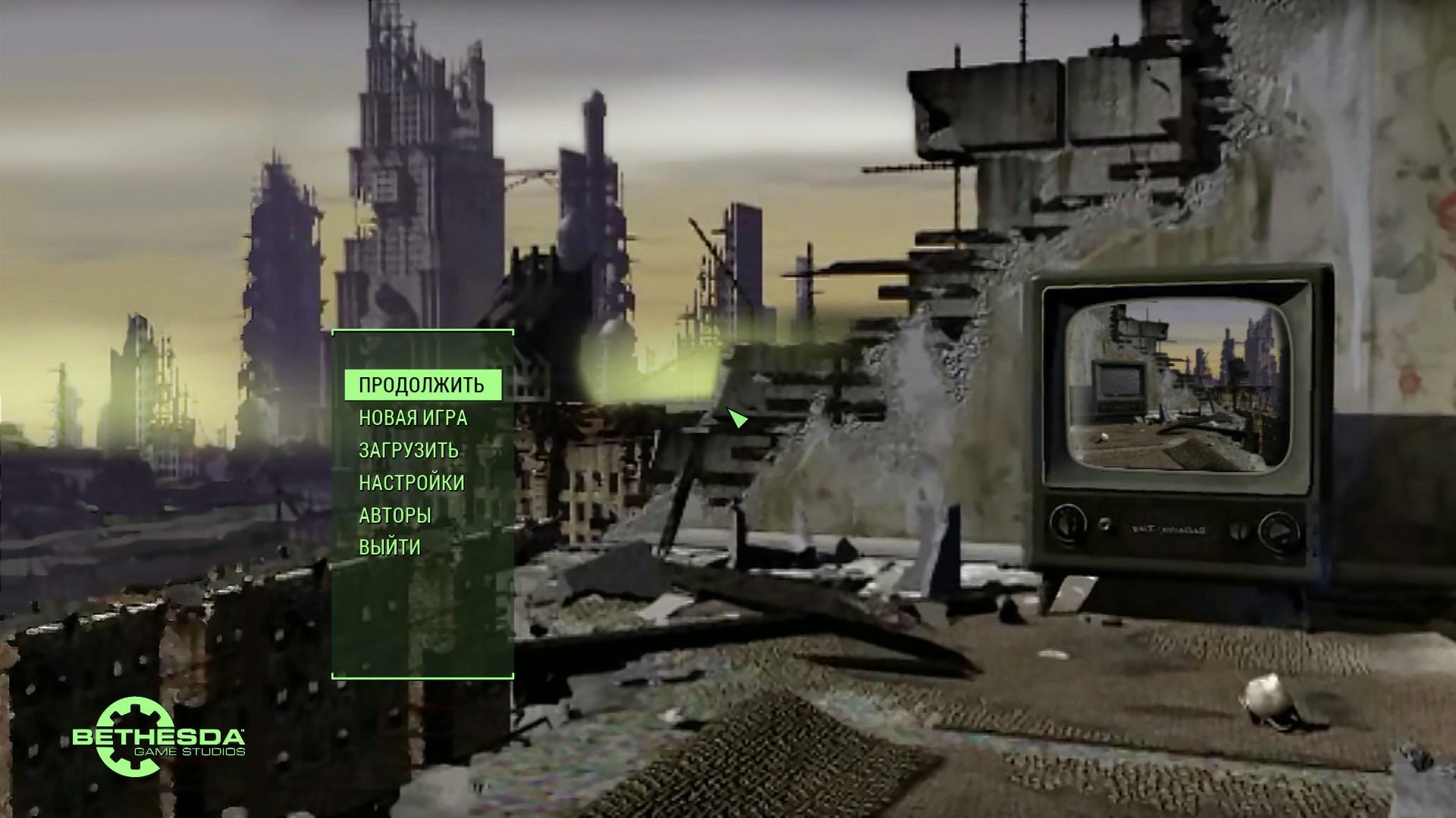 Res: 1920x1080, Main Menu Fallout 1 Mod
