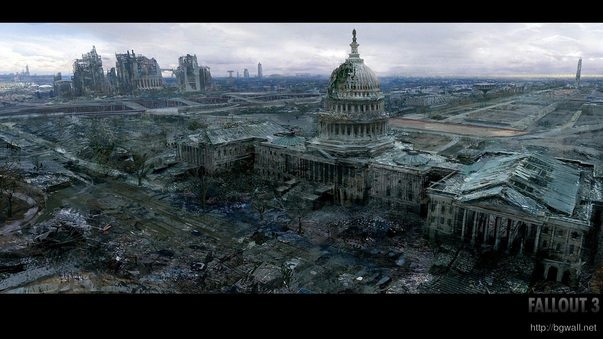Res: 1920x1080, Fallout 3 City Desktop Wallpapers
