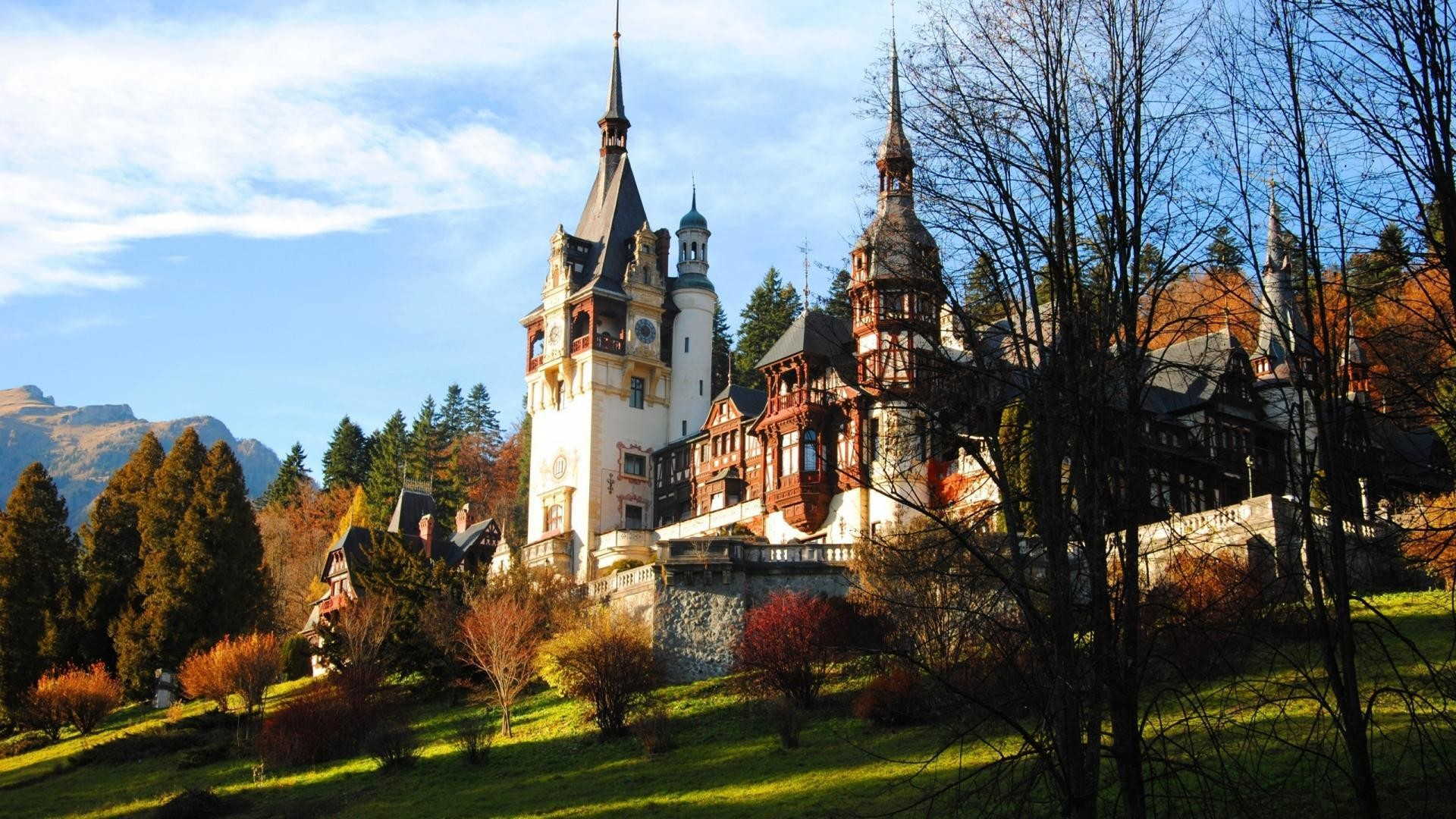 Res: 1920x1080, Wondrous Peles Castle In Romania wallpaper thumb