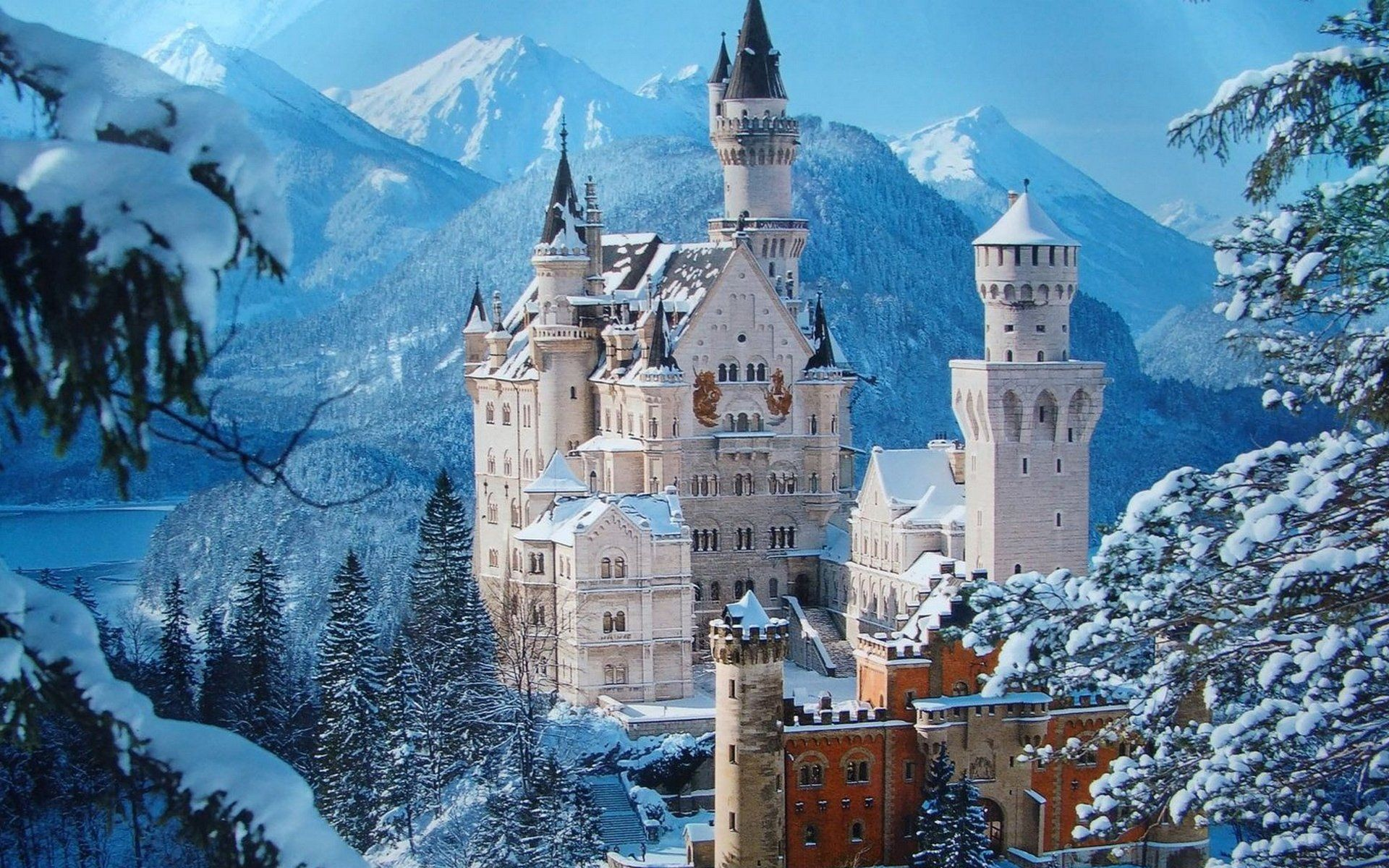 Res: 1920x1200, Man Made Neuschwanstein Castle Castle Building Wallpaper