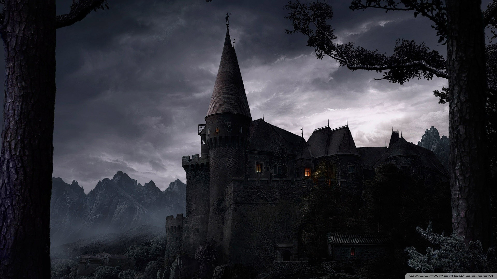 Res: 1920x1080, A dark castle