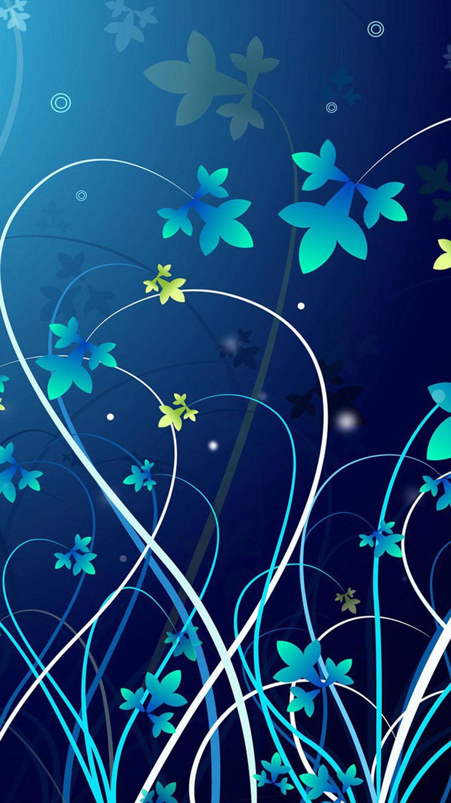 Res: 1440x2560, google nexus 6 wallpapers  quad hd blue flowers