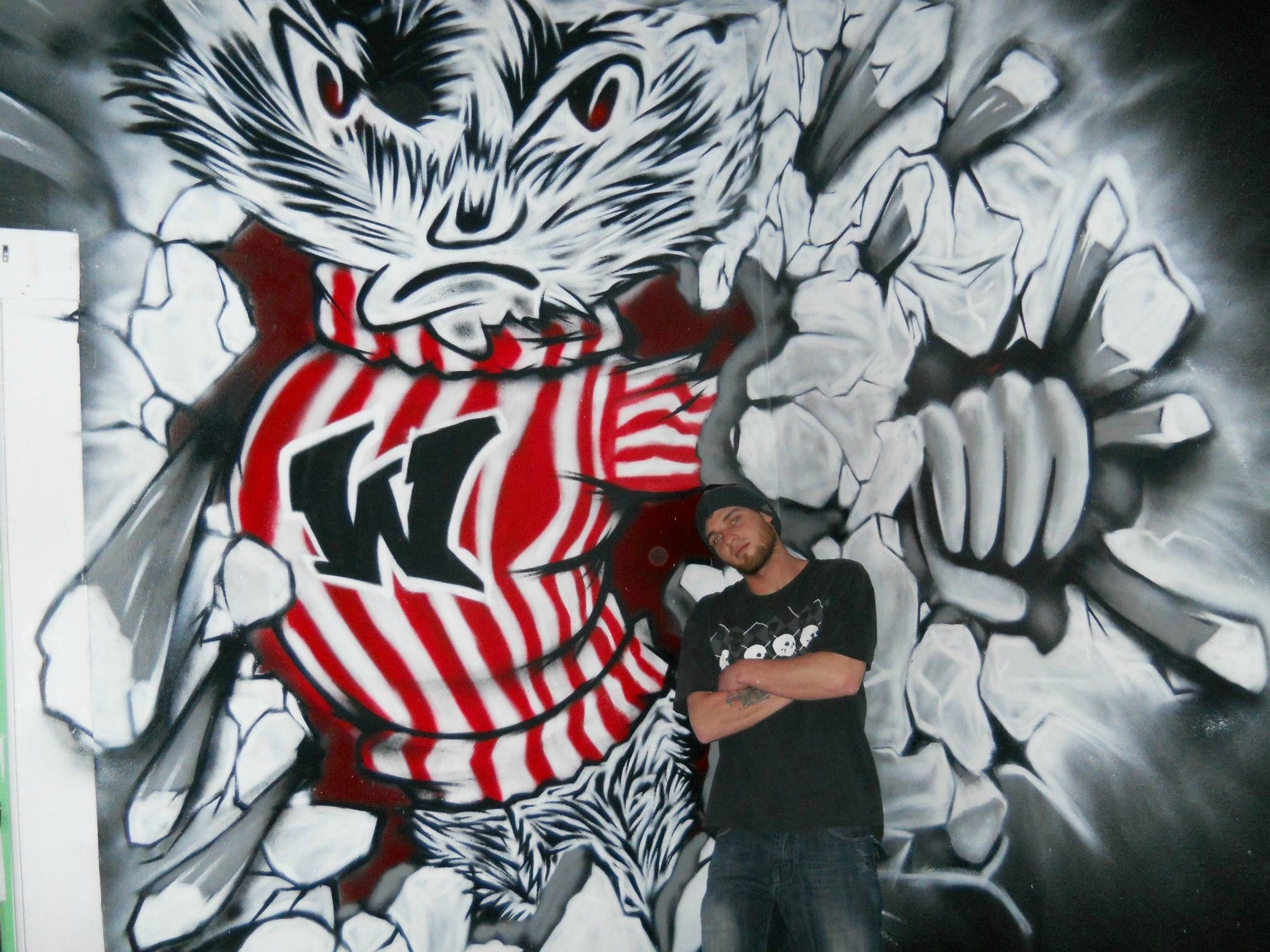 Res: 2048x1536, cosa ink graffiti bucky the badger
