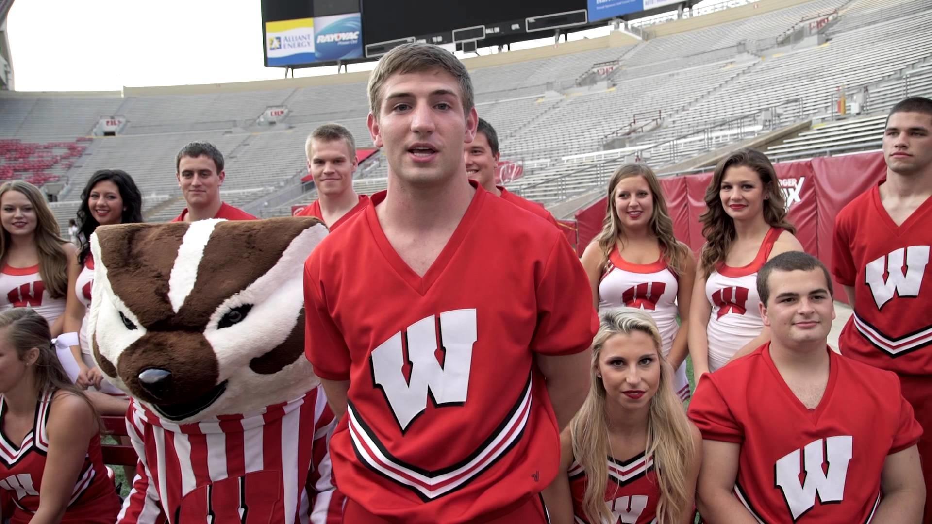 Res: 1920x1080, Wisconsin Spirit Squad and Bucky Badger #ALSicebucketchallenge