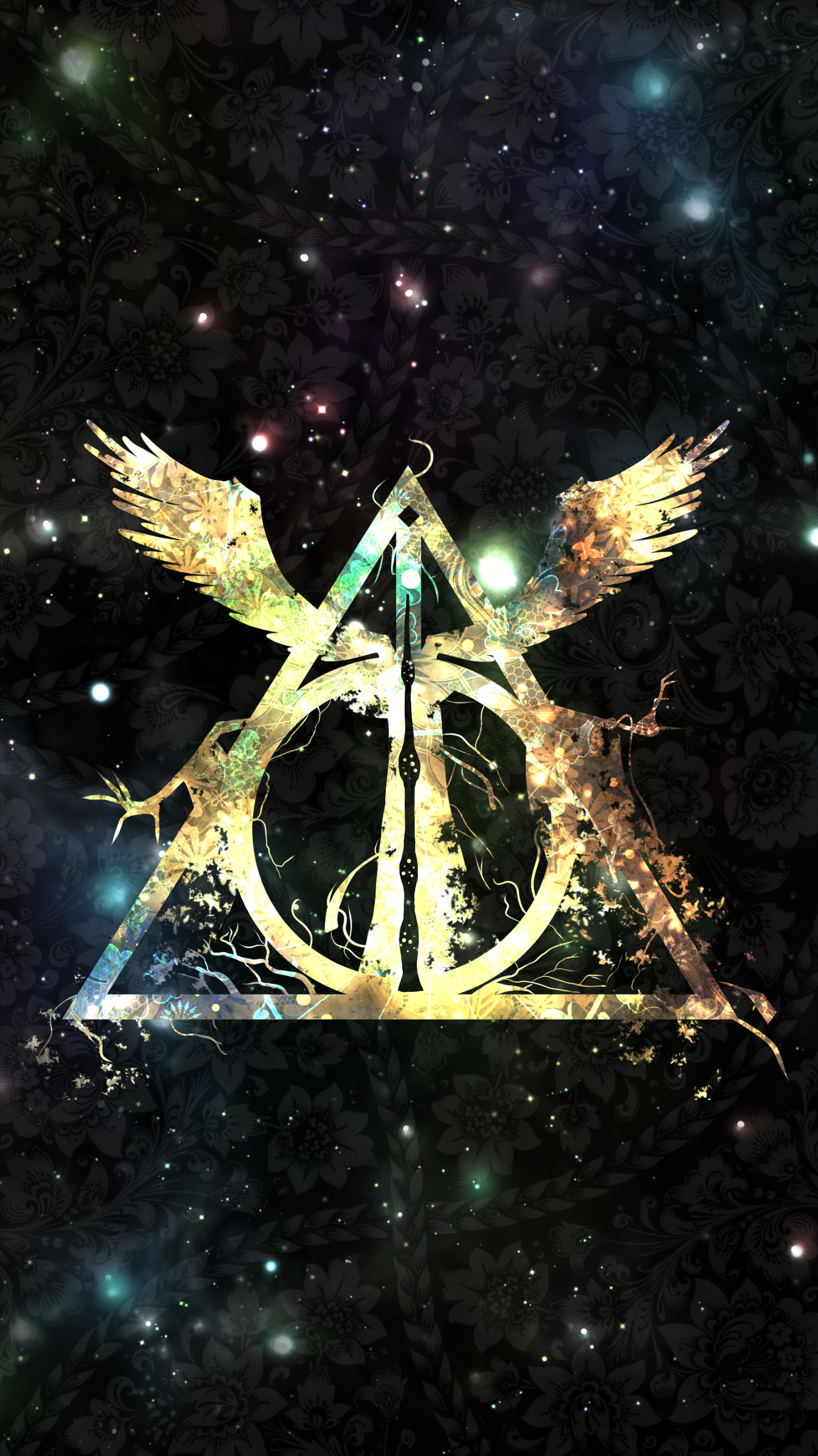 Res: 1440x2560, Harry Potter And The Deathly Hallows Symbol Wallpaper Wide ~ Click  Wallpapers