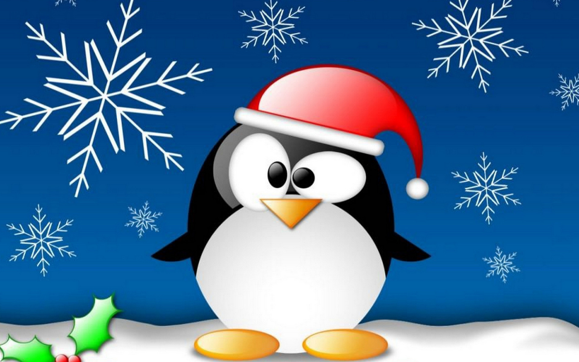 Res: 1920x1200, Funny penguin on Christmas