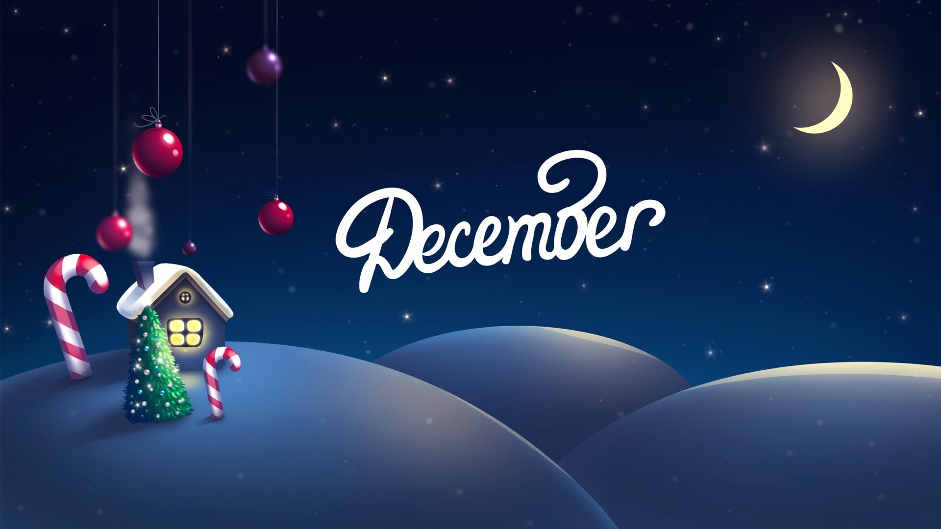 Res: 1920x1080, Blue And Funny December Christmas Wallpaper
