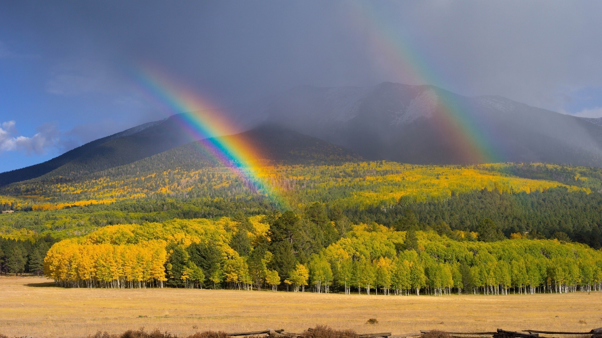 Res: 1920x1080, two rainbow wallpaper mountain backgrounds rainbow background