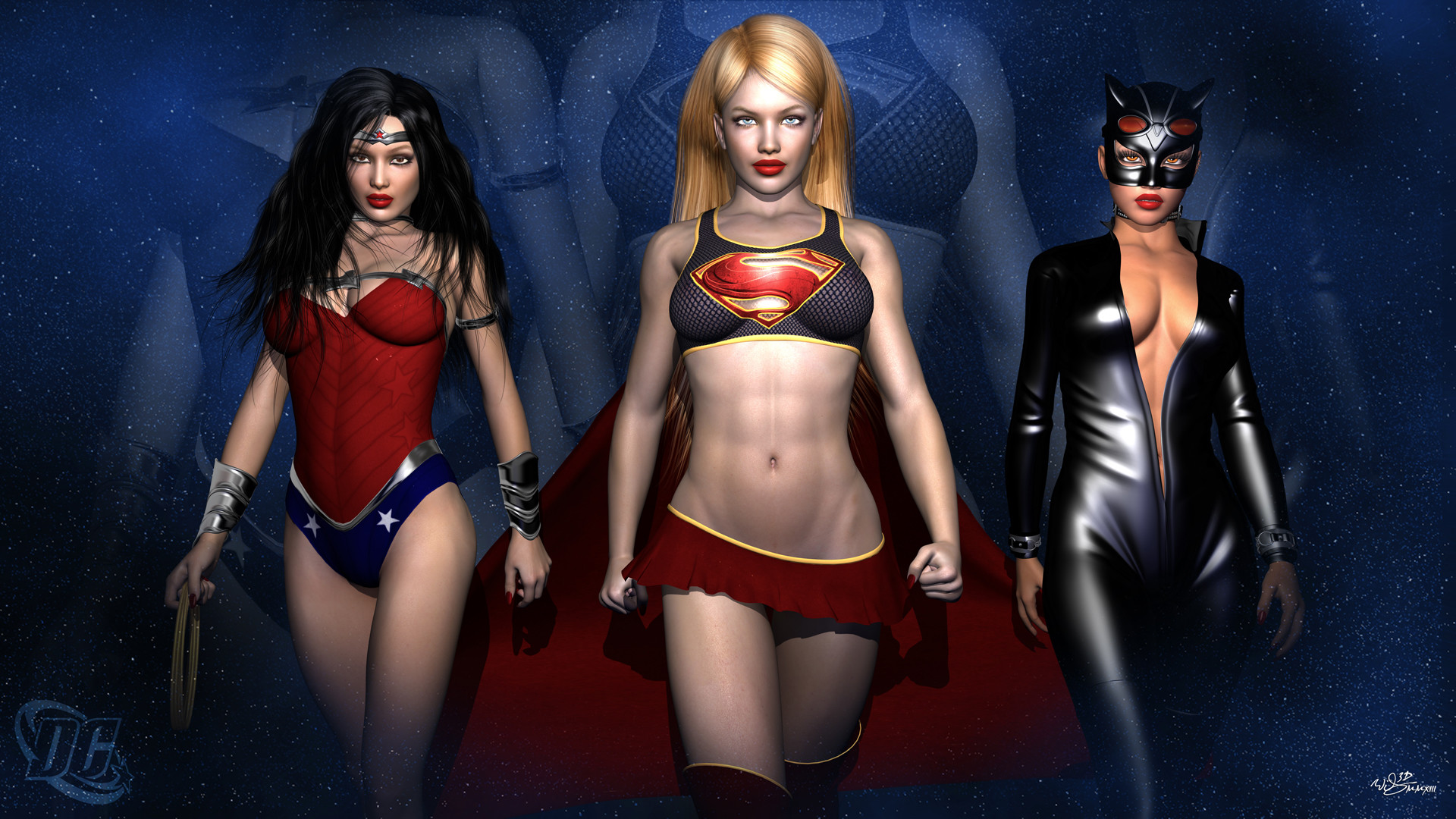 Res: 1920x1080, DC Girls Wallpaper by WiL3D DC Girls Wallpaper by WiL3D