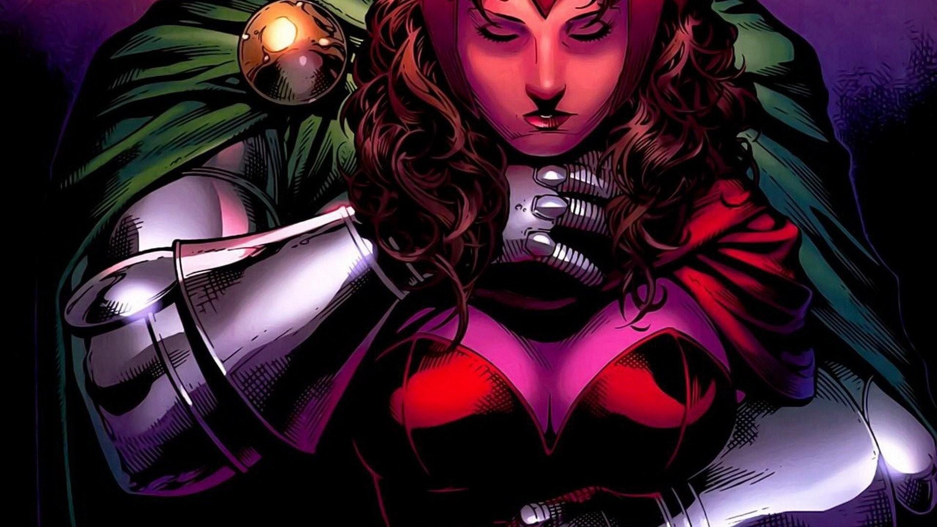 Res: 1920x1080, Comics Marvel Comics Scarlet Witch comics girls Dr_ Doom Avengers wallpaper  |  | 300321 | WallpaperUP