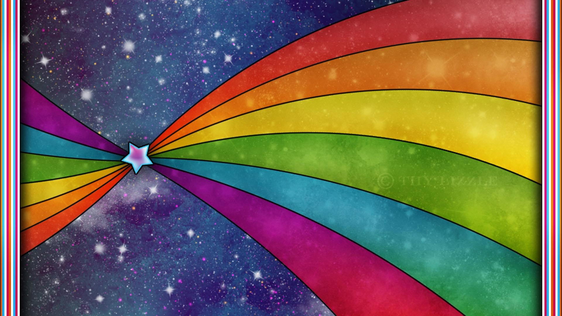 Res: 1920x1080, Rainbow Color HD Background Wallpaper