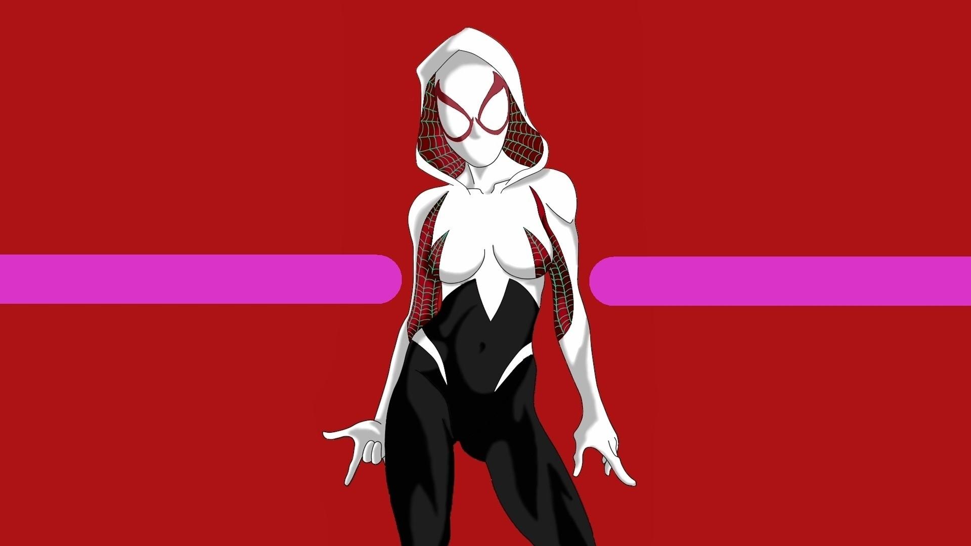 Res: 1920x1080, Title : spider-gwen marvel comics girl wallpaper #7689. Dimension : 1920 x  1080. File Type : JPG/JPEG