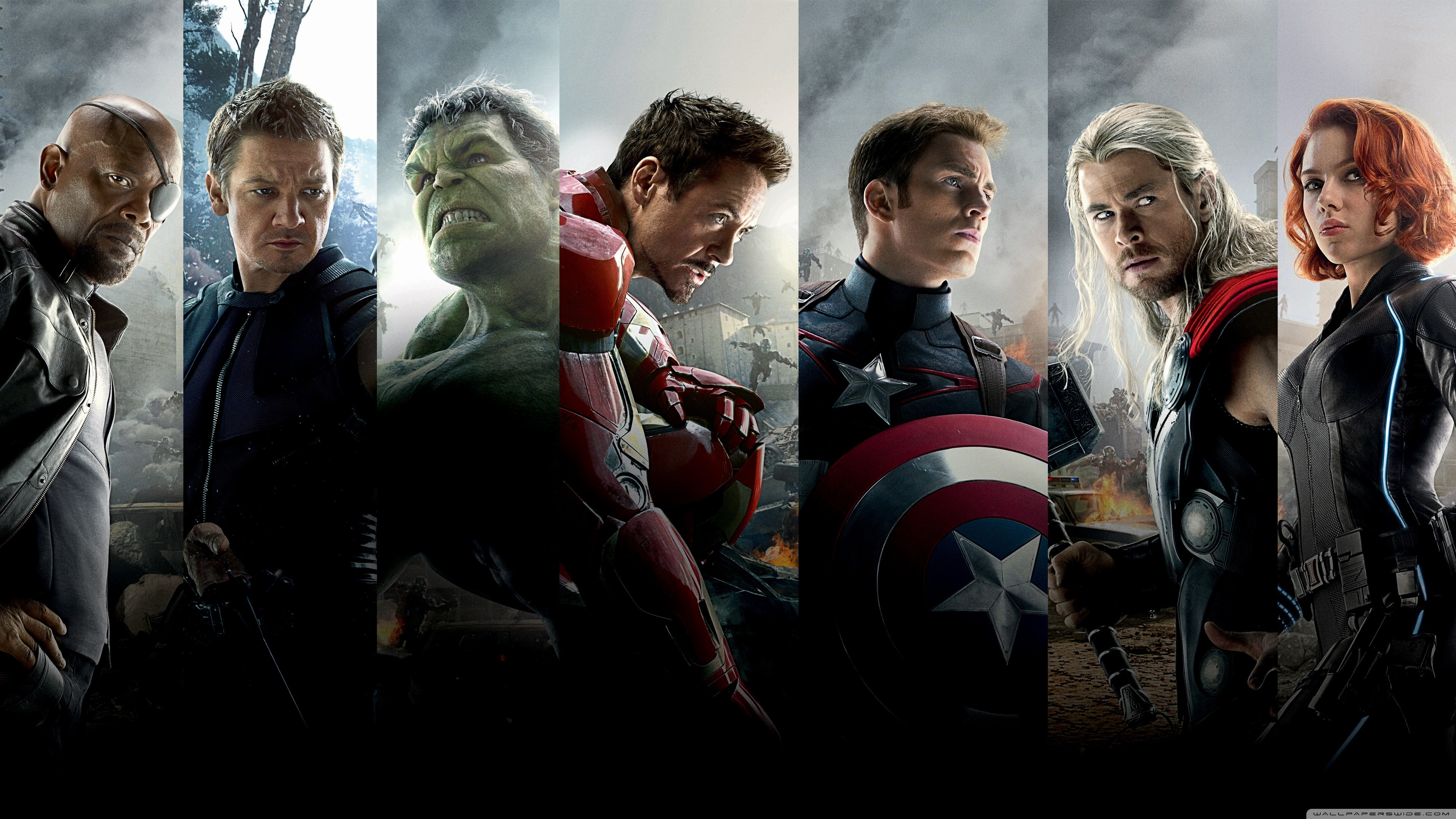 Res: 3840x2160, The Avengers Age of Ultron Team HD Wide Wallpaper for 4K UHD Widescreen  desktop & smartphone