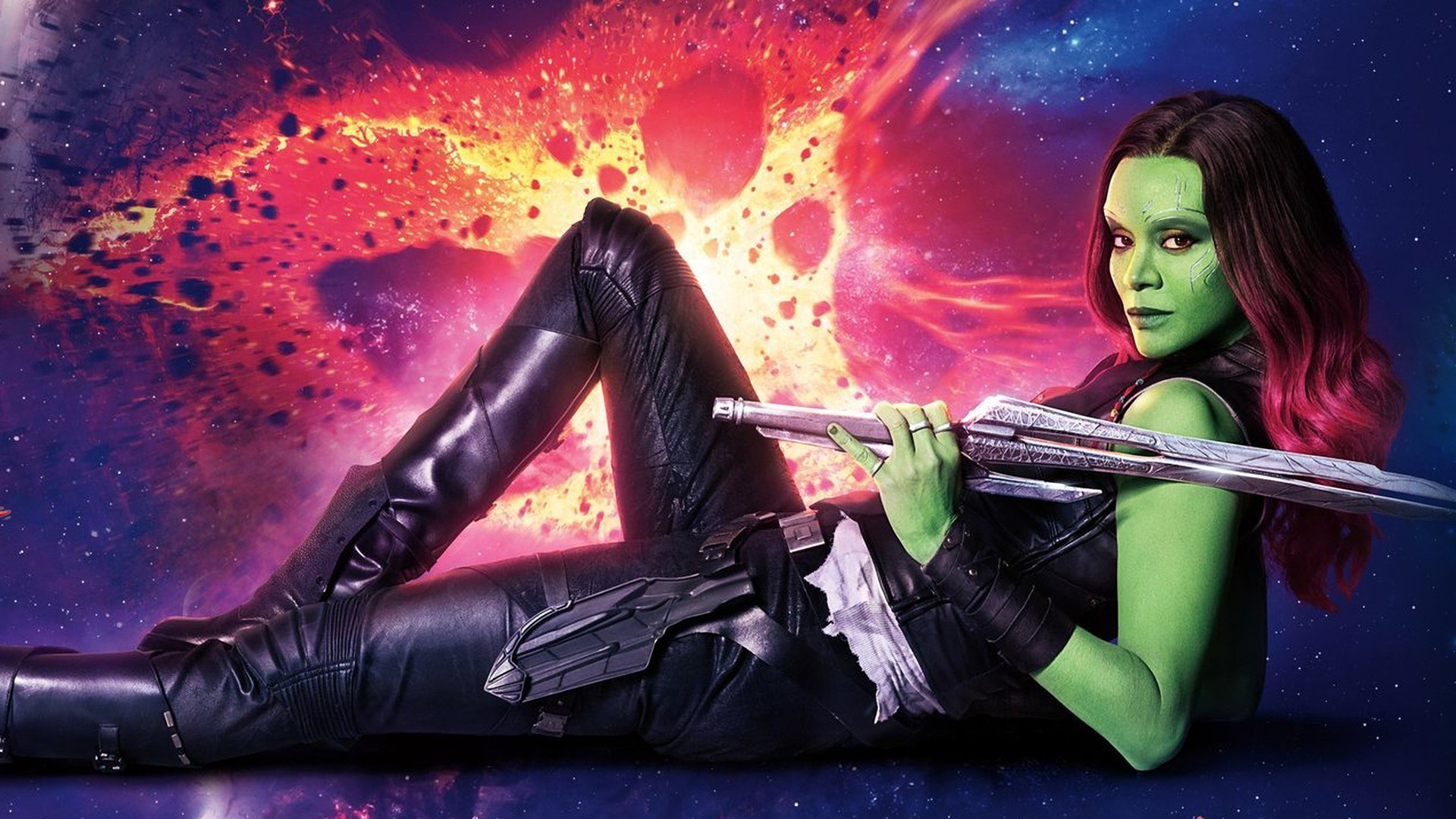 Res: 1920x1080, Gamora, Guardians of the Galaxy Vol. 2, Marvel Cinematic Universe,  Guardians of the Galaxy Wallpapers HD / Desktop and Mobile Backgrounds