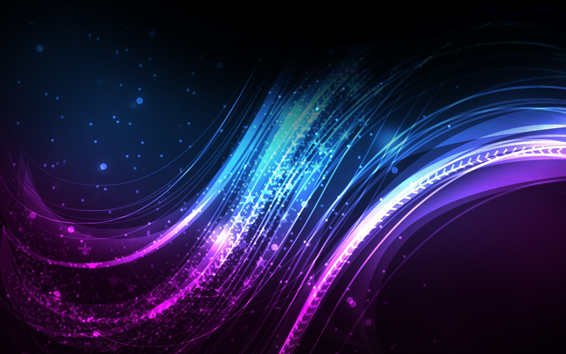 Res: 1920x1200, Rainbow Color Tentacles Abstract Wallpaper