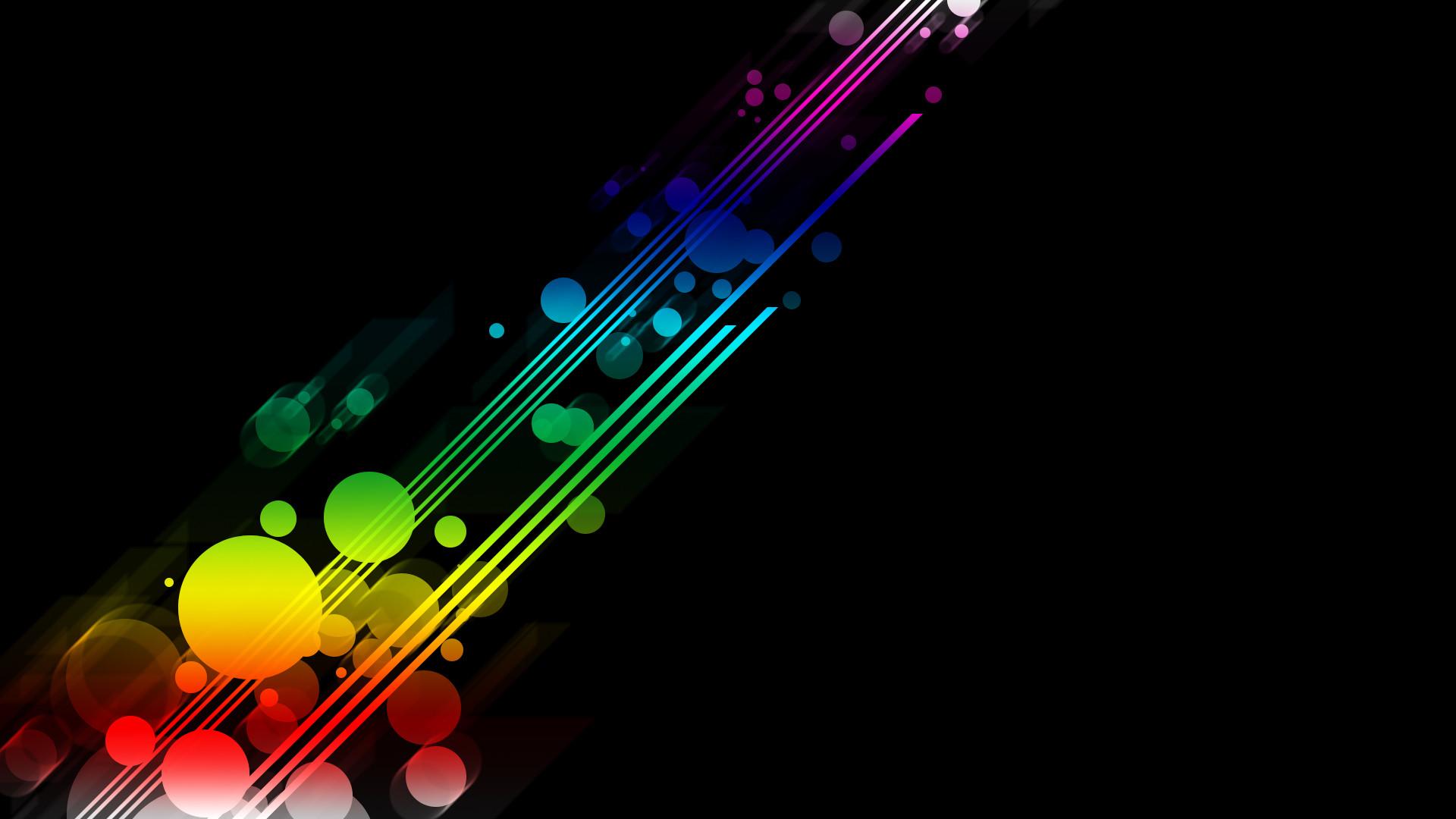 Res: 1920x1080, Rainbow Black Background Wallpaper