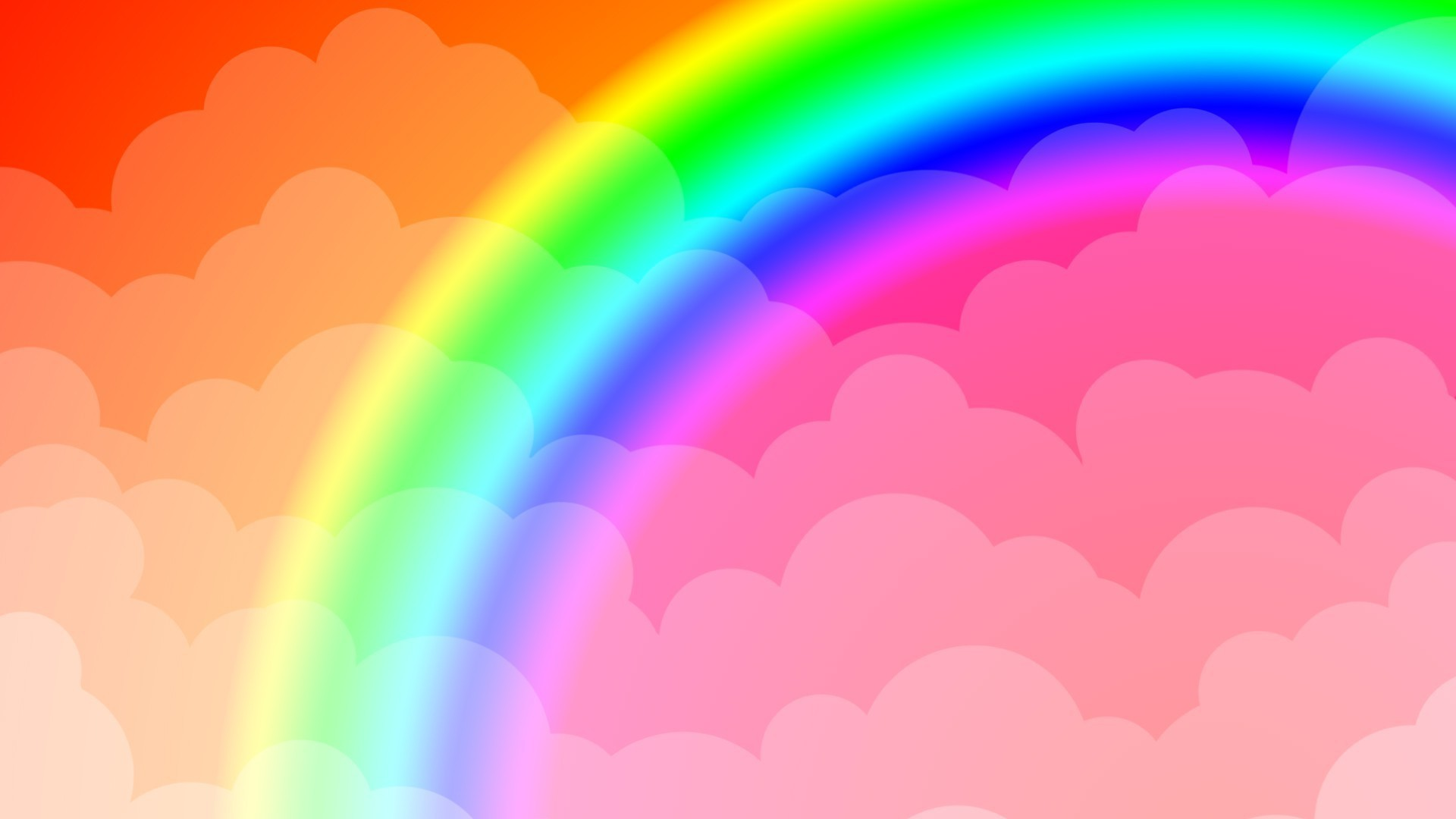 Res: 1920x1080, Rainbow in the clouds, background