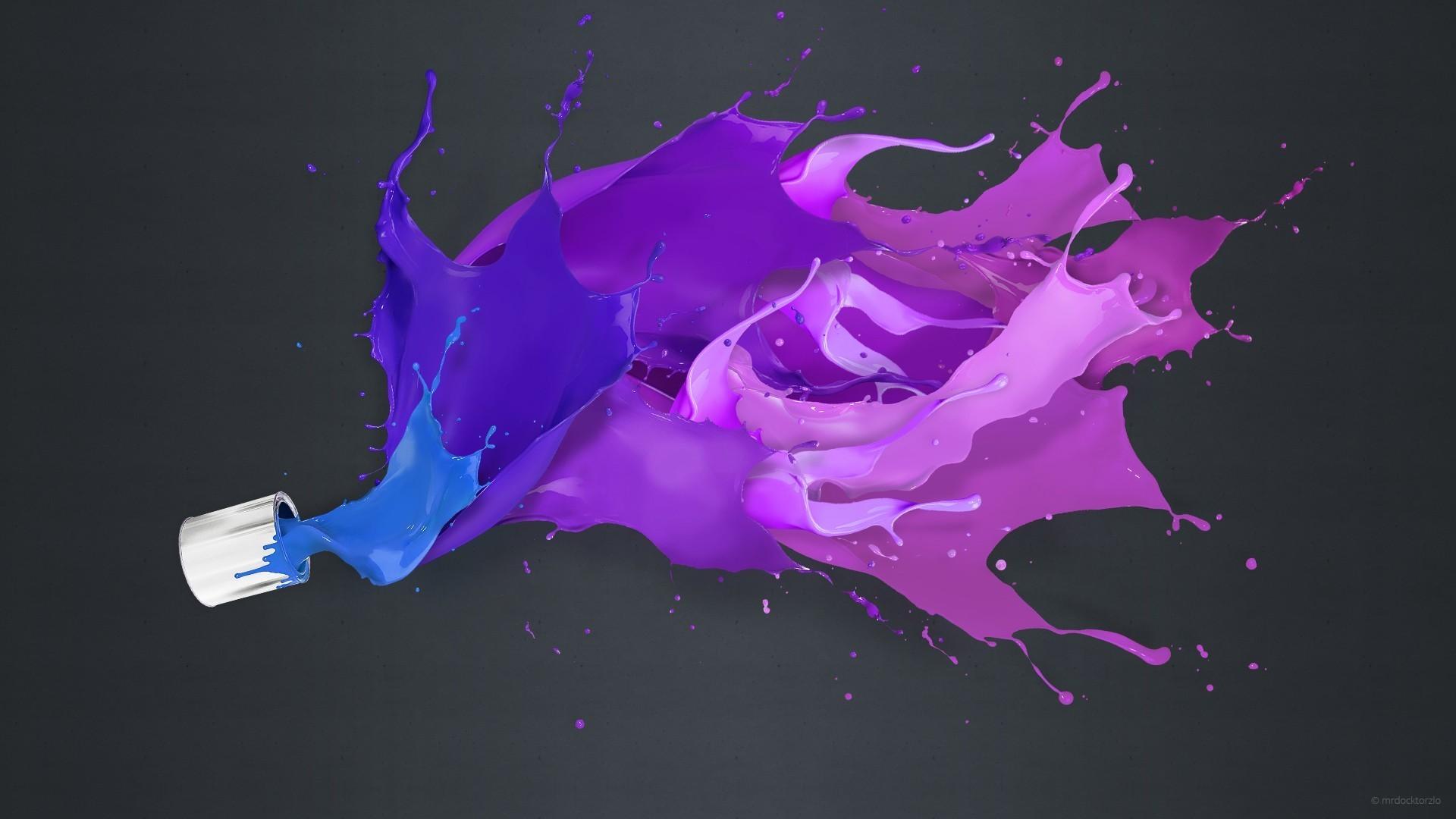 Res: 1920x1080, Rainbow Color Splash Background Wallpaper