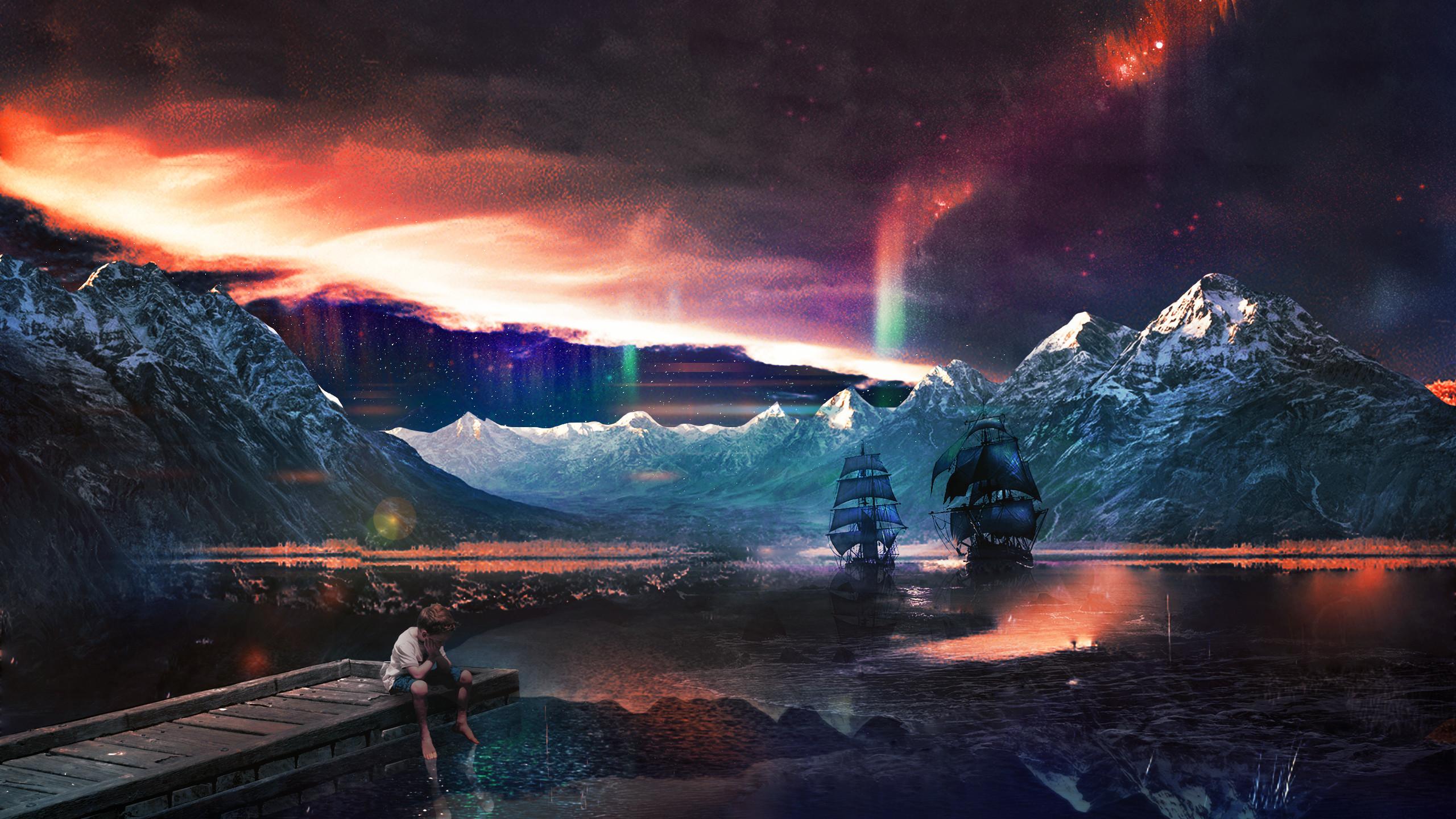 Res: 2560x1440, Space Fantasy Wallpaper