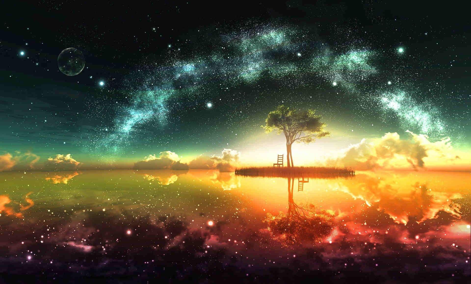 Res: 1920x1158,  Dreamy Space HD Fantasy Wallpaper