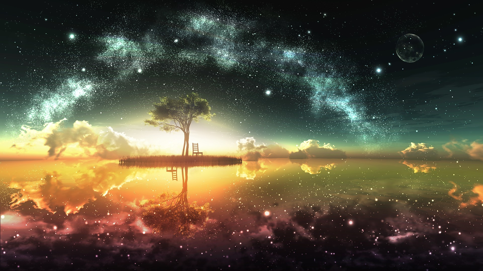 Res: 1920x1080, Fantasy Sunset Wallpapers