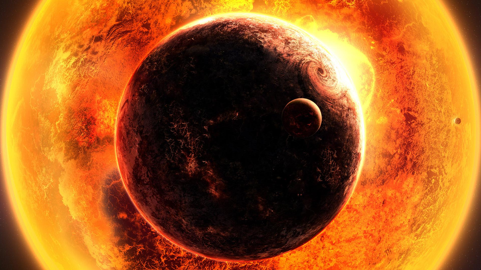Res: 1920x1080, Space fantasy sun planet